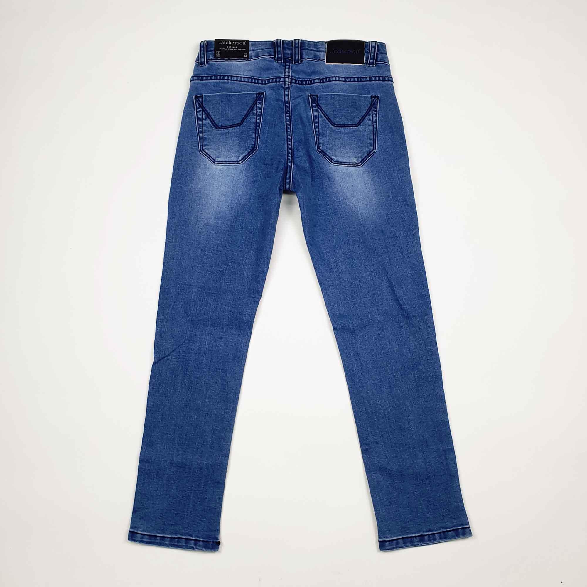Jeans toppe fantasia scritte - Denim chiaro
