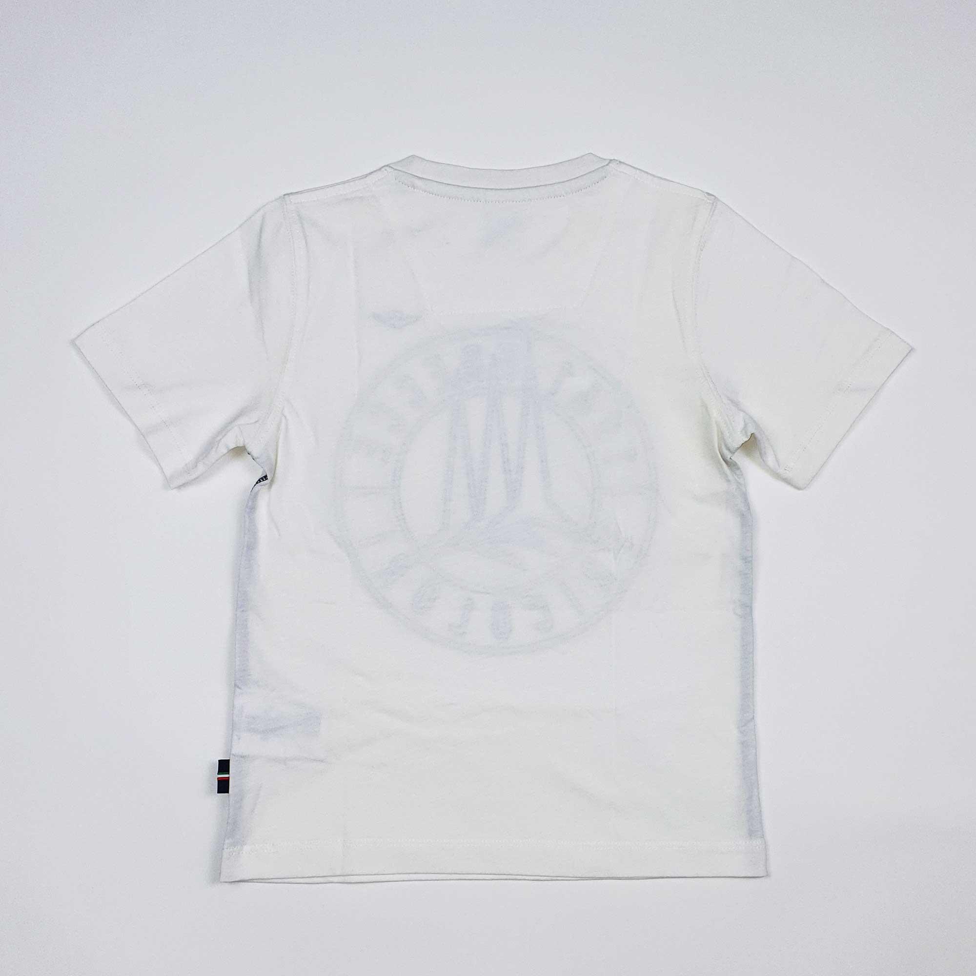 T-shirt logo circolare - Bianco
