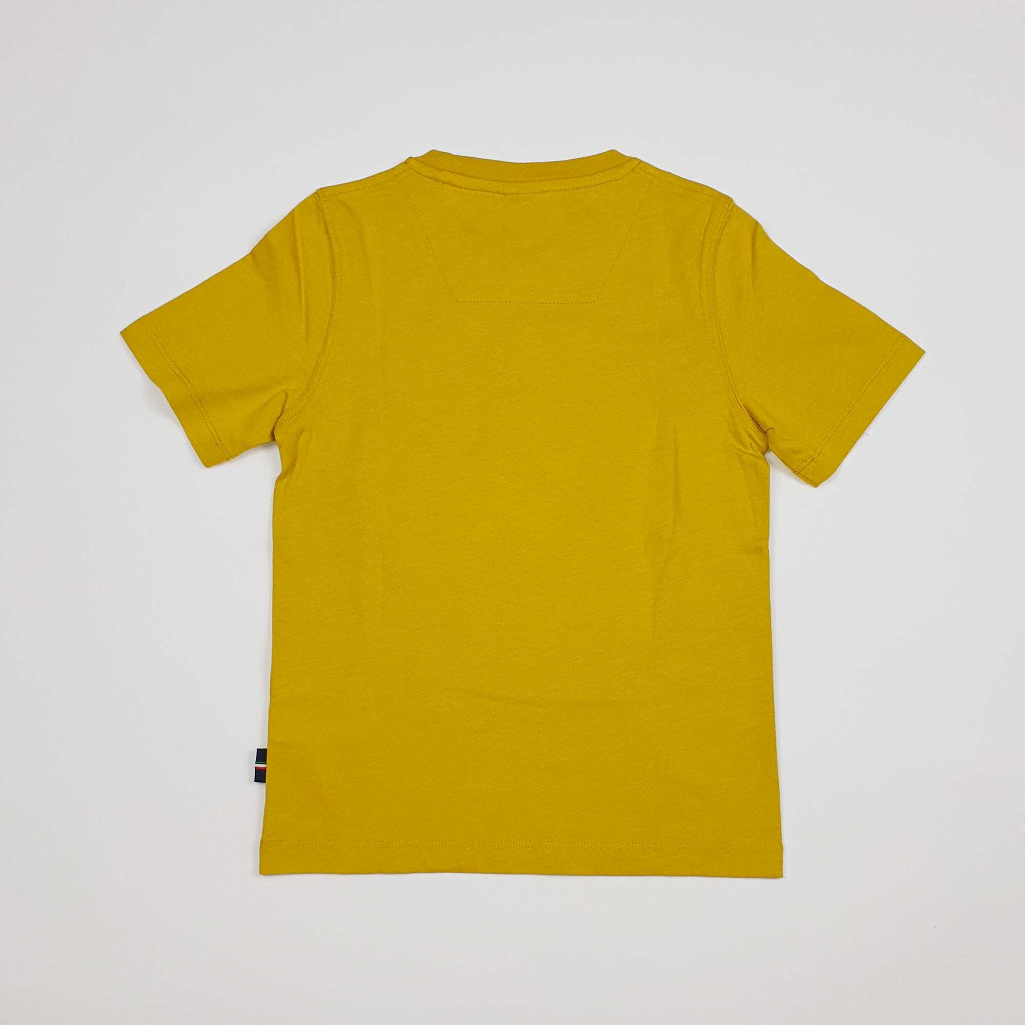 T-shirt logo circolare - Giallo