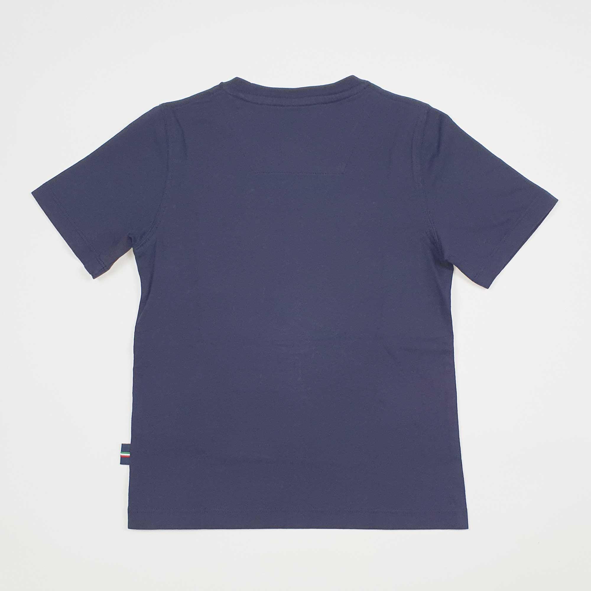 T-shirt logo circolare - Blu