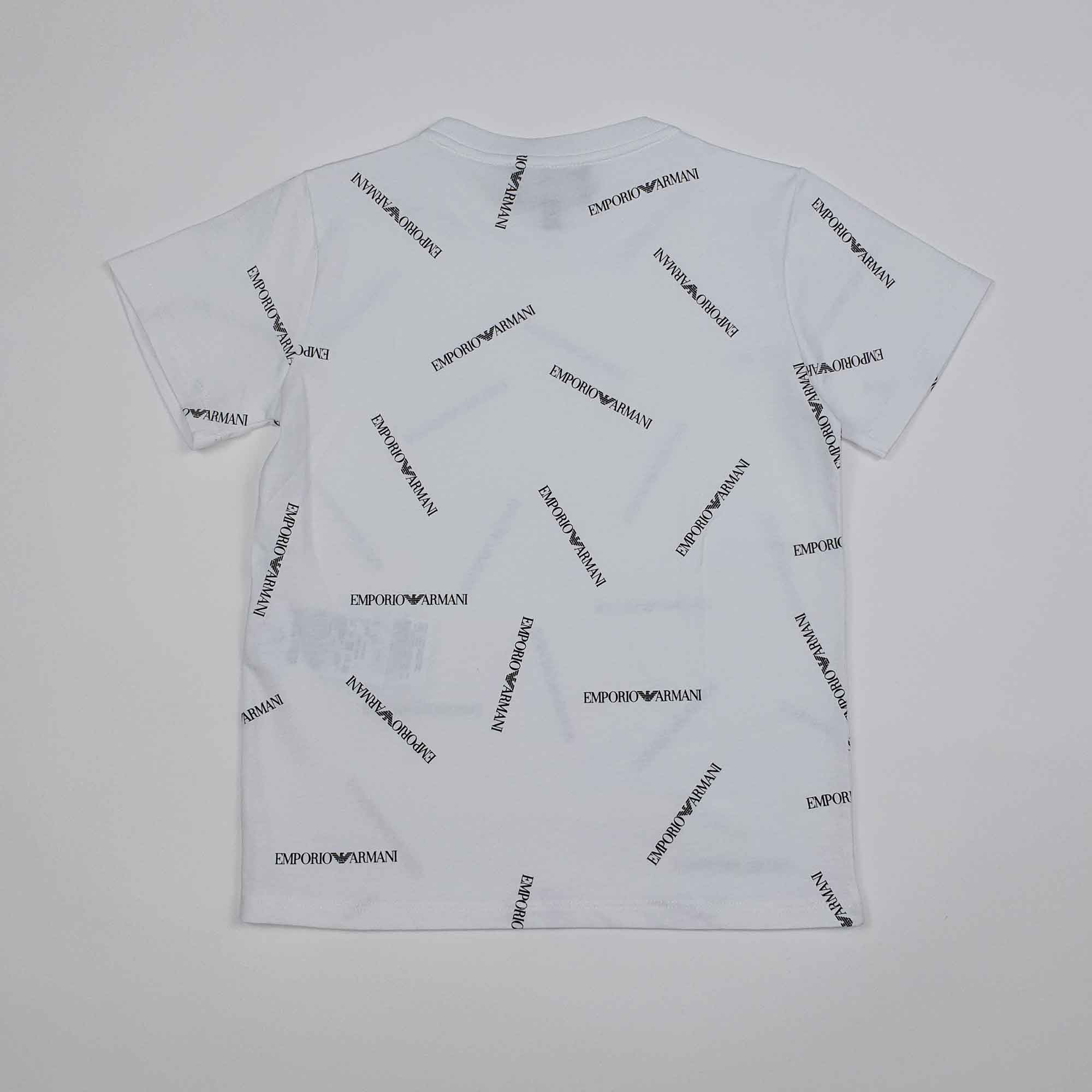 T-shirt logo all over - Bianco