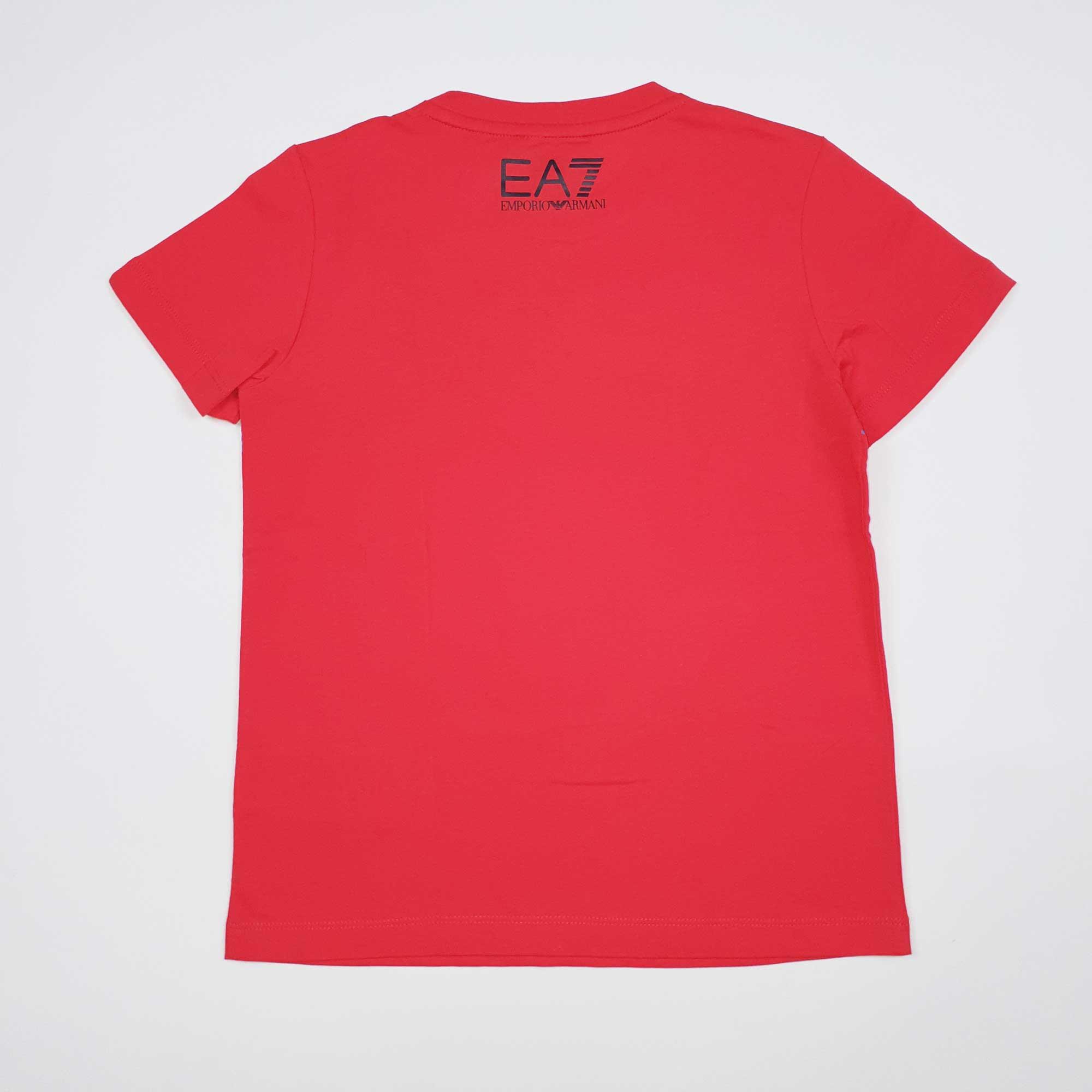 T-shirt boy fascia logo - Rosso