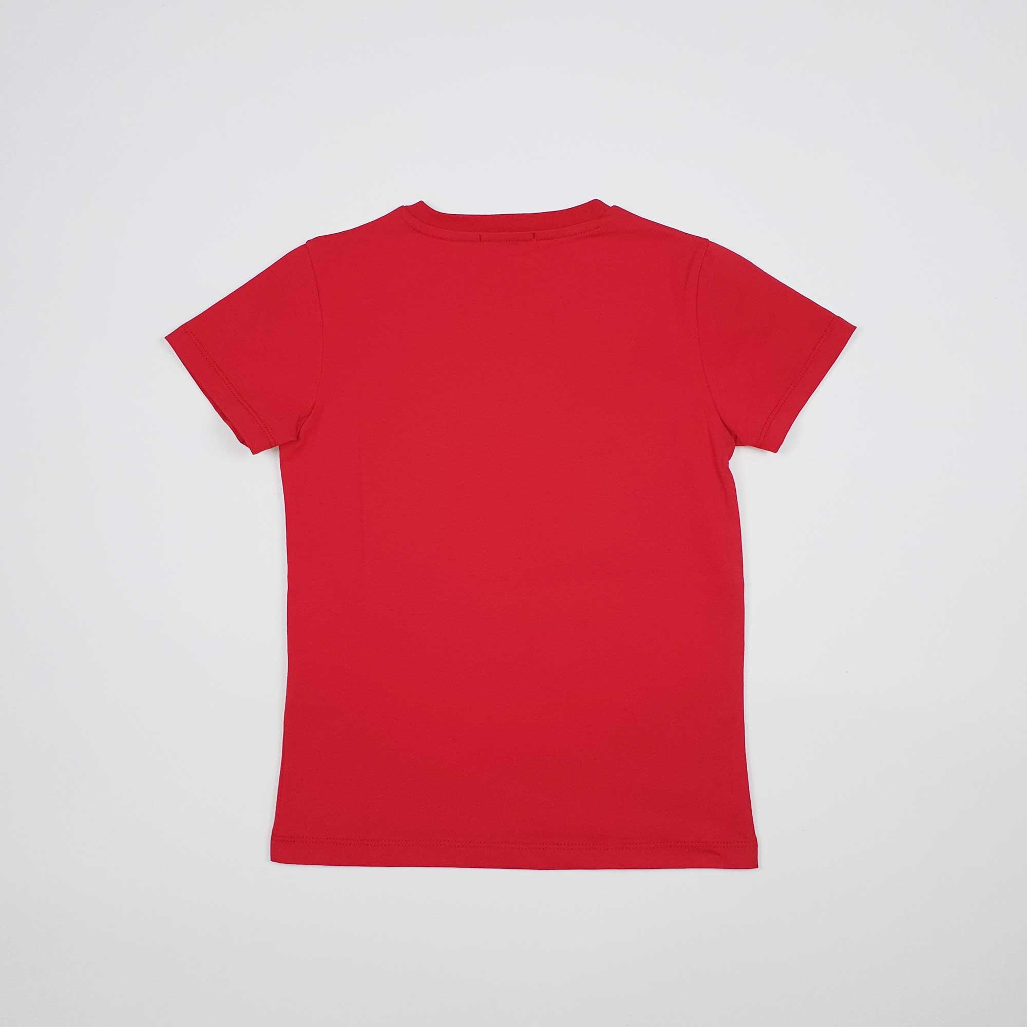T-shirt logo impunturato - Rosso