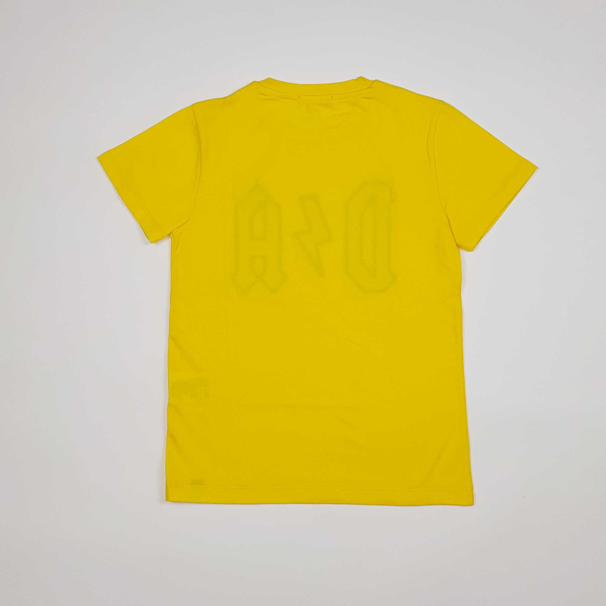 T-shirt logo impunturato - Giallo