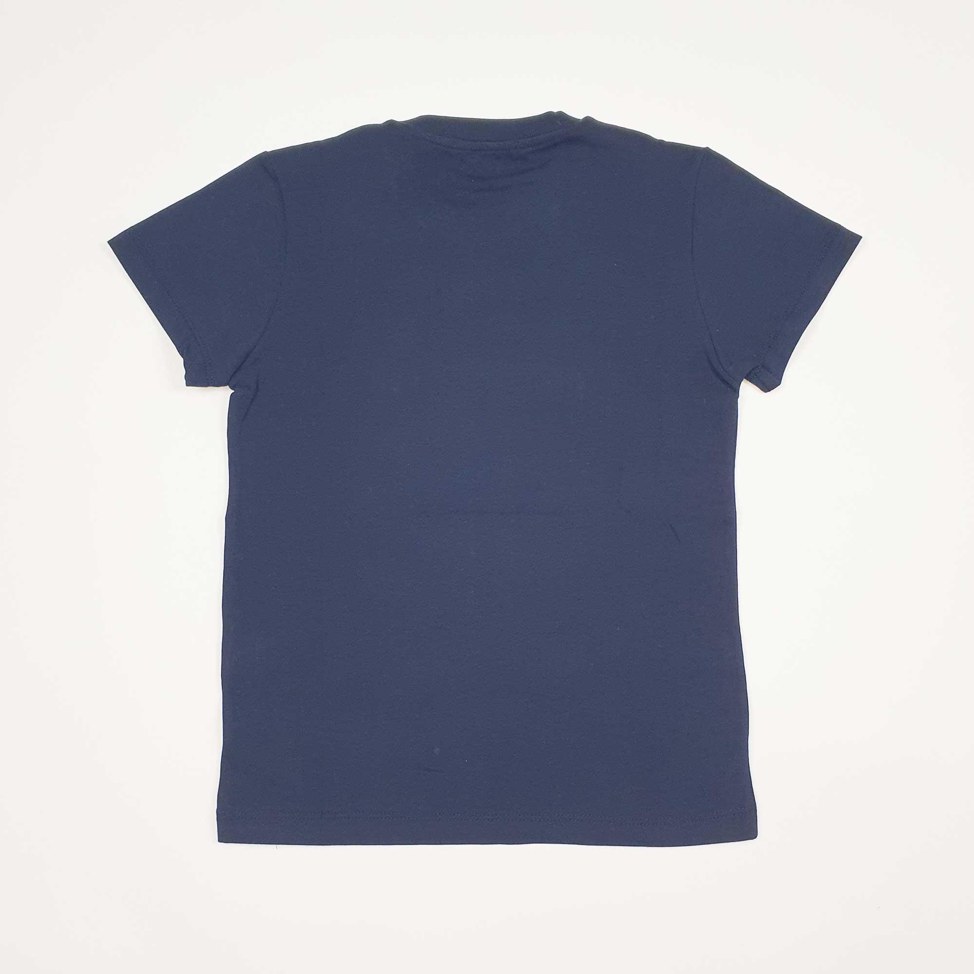 T-shirt logo gommato- Blu