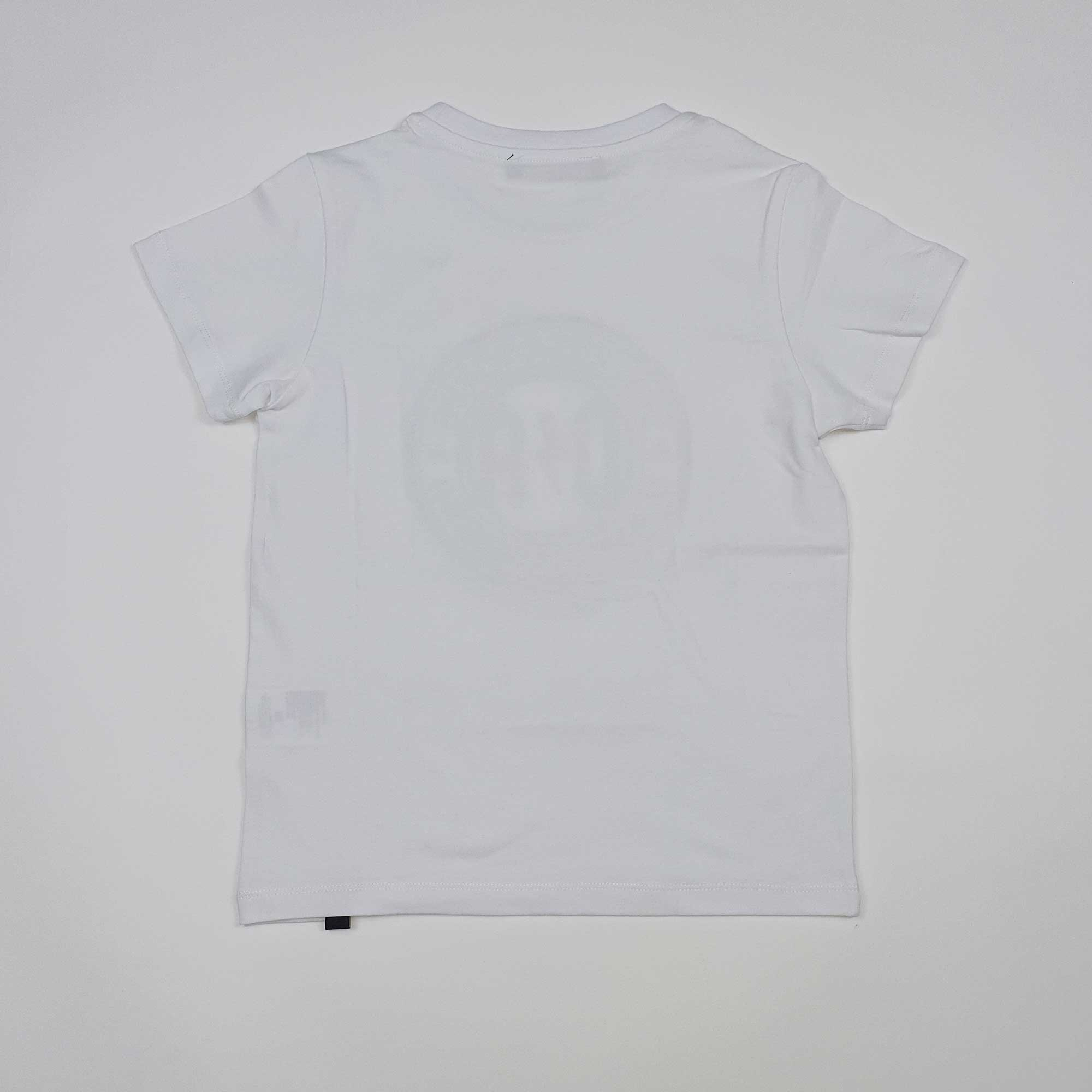T-shirt logo circolare gommato - Bianco