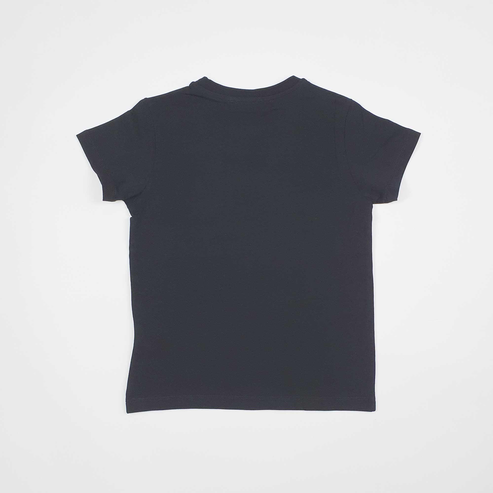 T-shirt logo circolare gommato - Nero