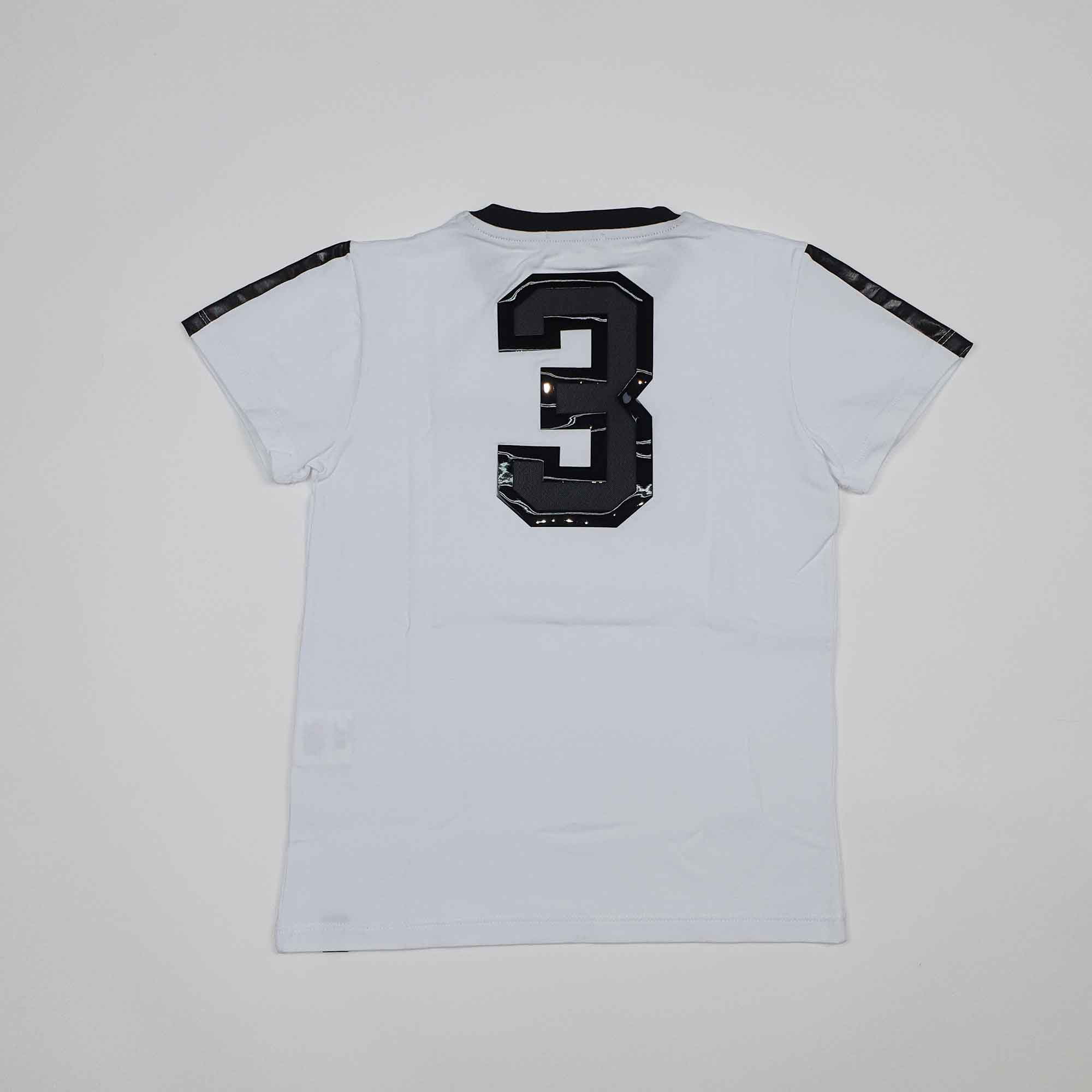 T-shirt inserti in gomma lucida - Bianco