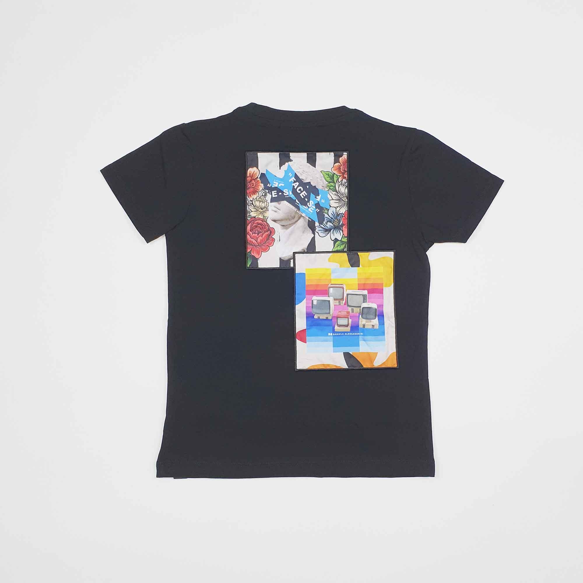 T-shirt pop art priority - Nero