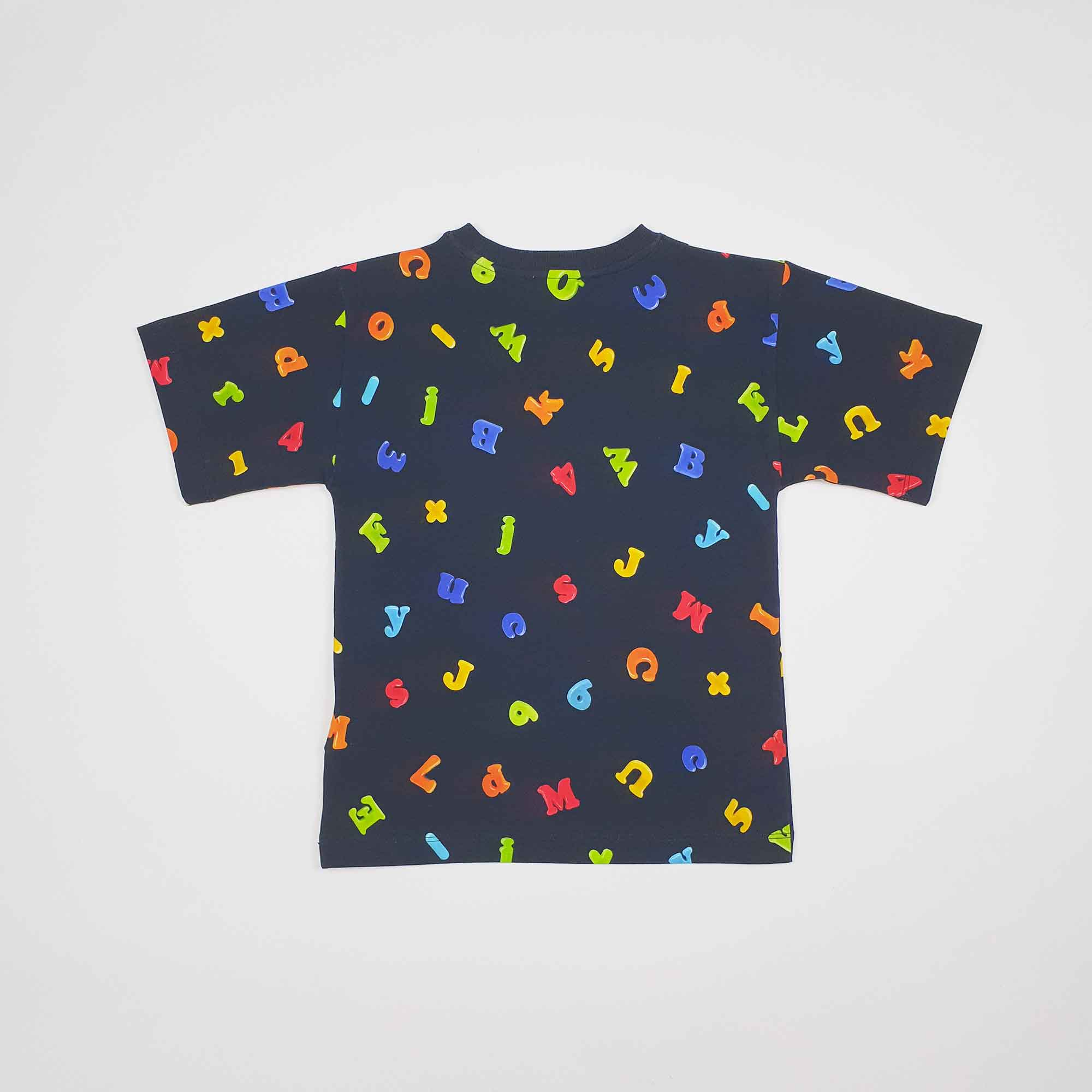 Maxi t-shirt logo lettere - Nero