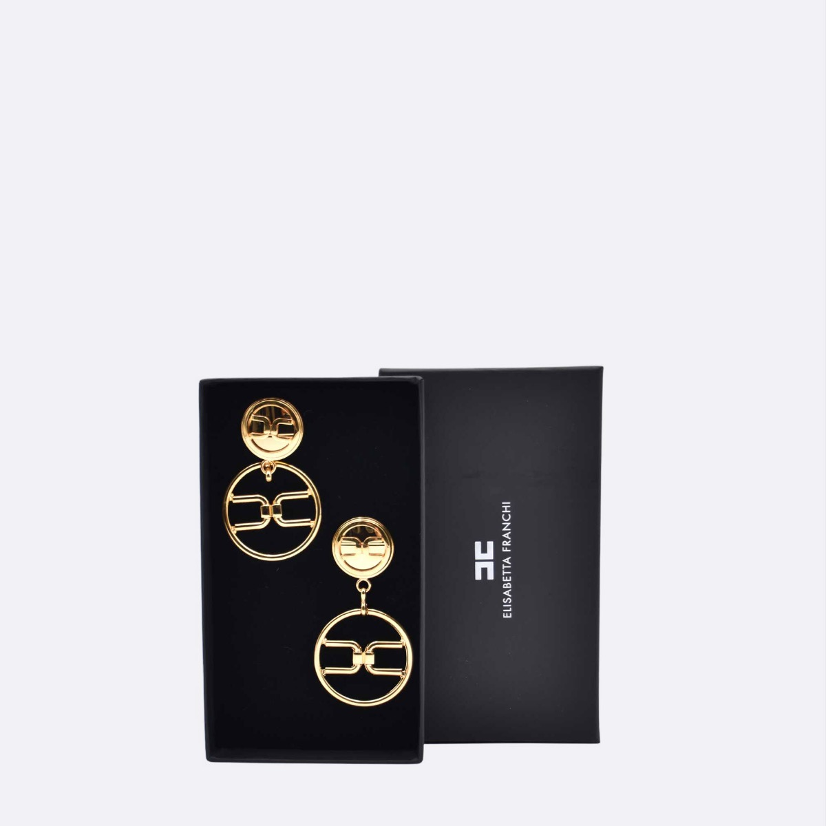 Orecchini pendenti con logo - Oro