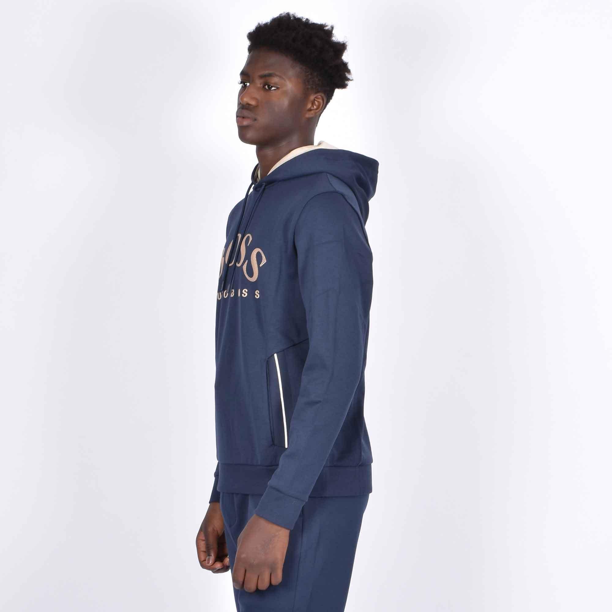 Felpa logo arrotondato - Blu navy