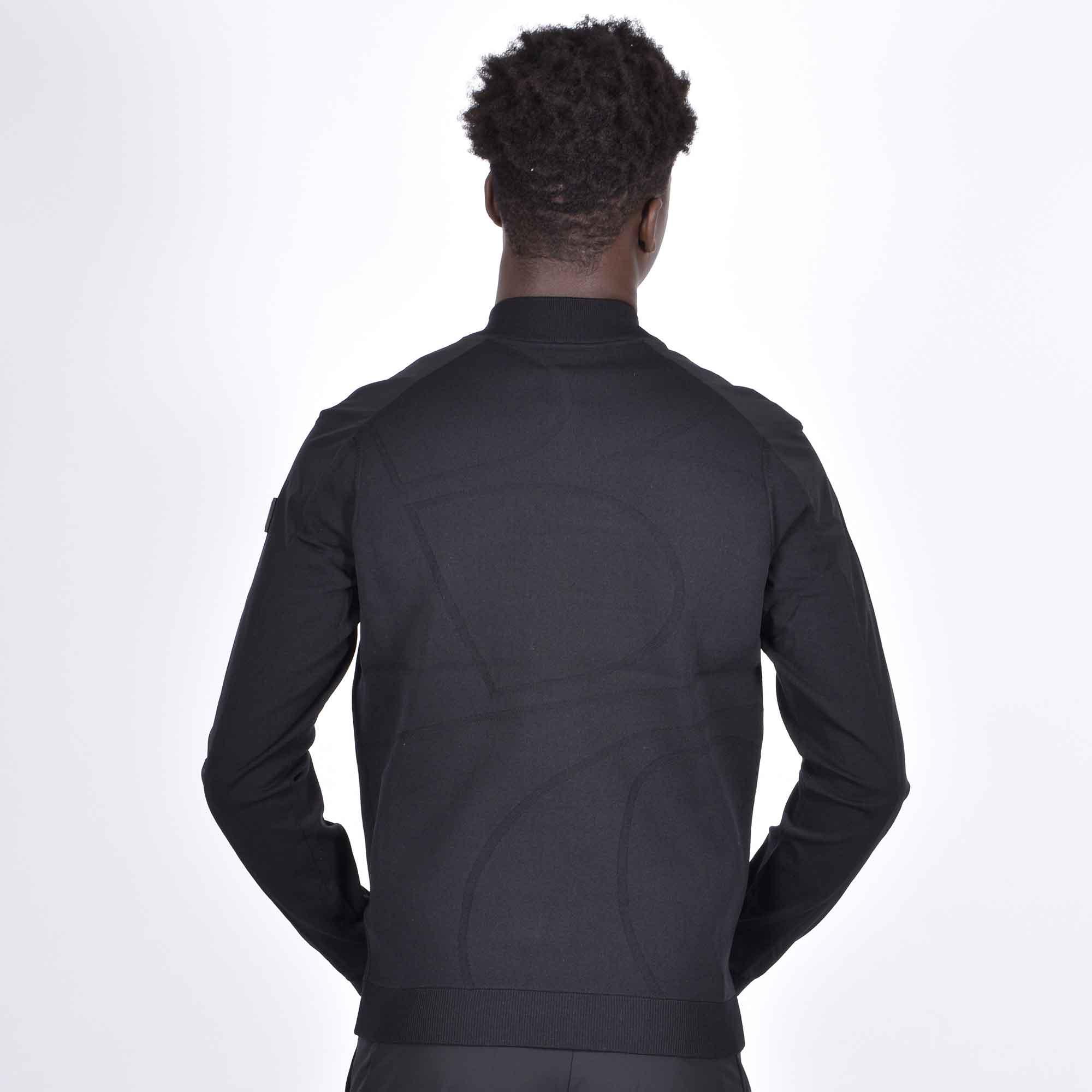 Felpa zip logo posteriore - Nero