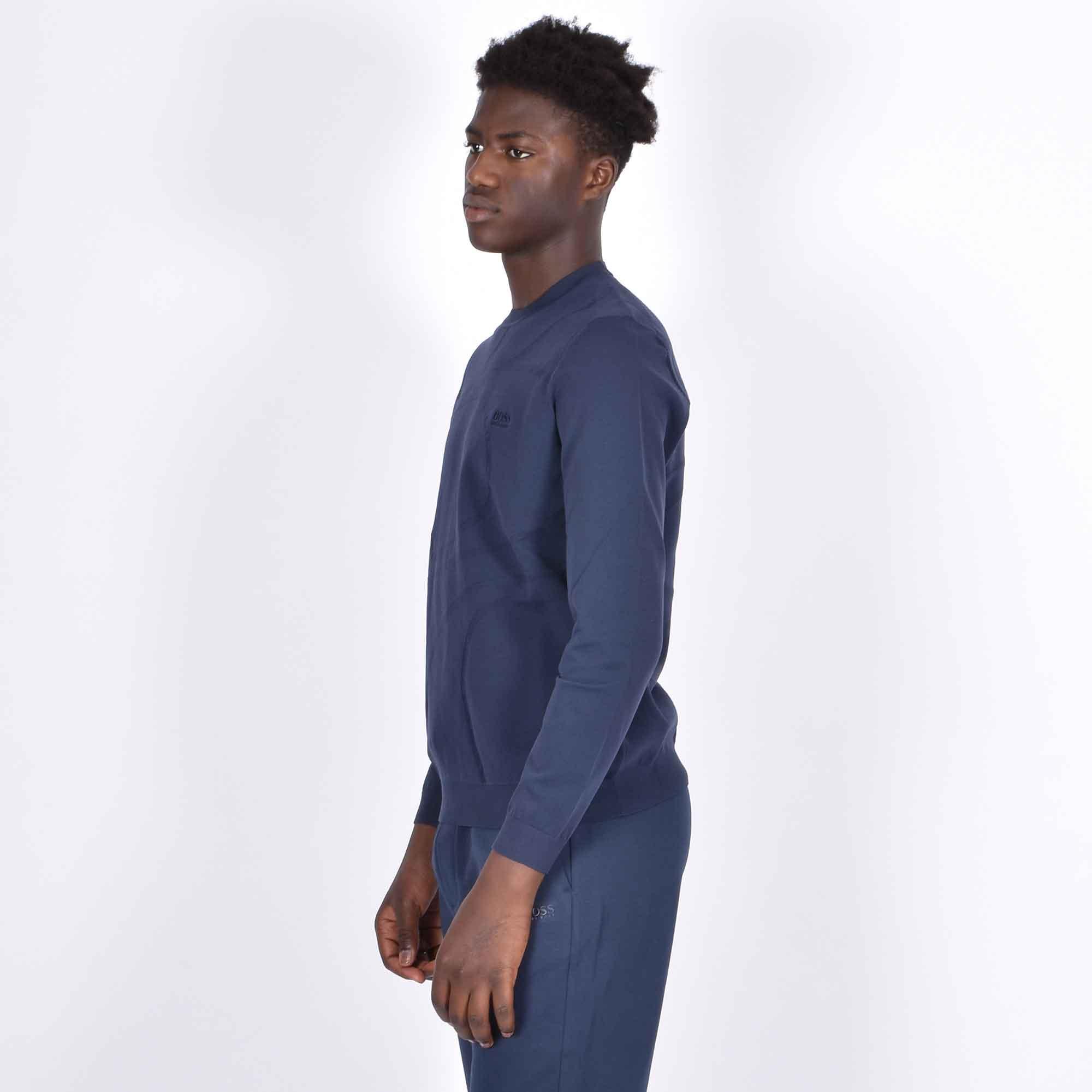 Felpa maglia logo posteriore - Blu