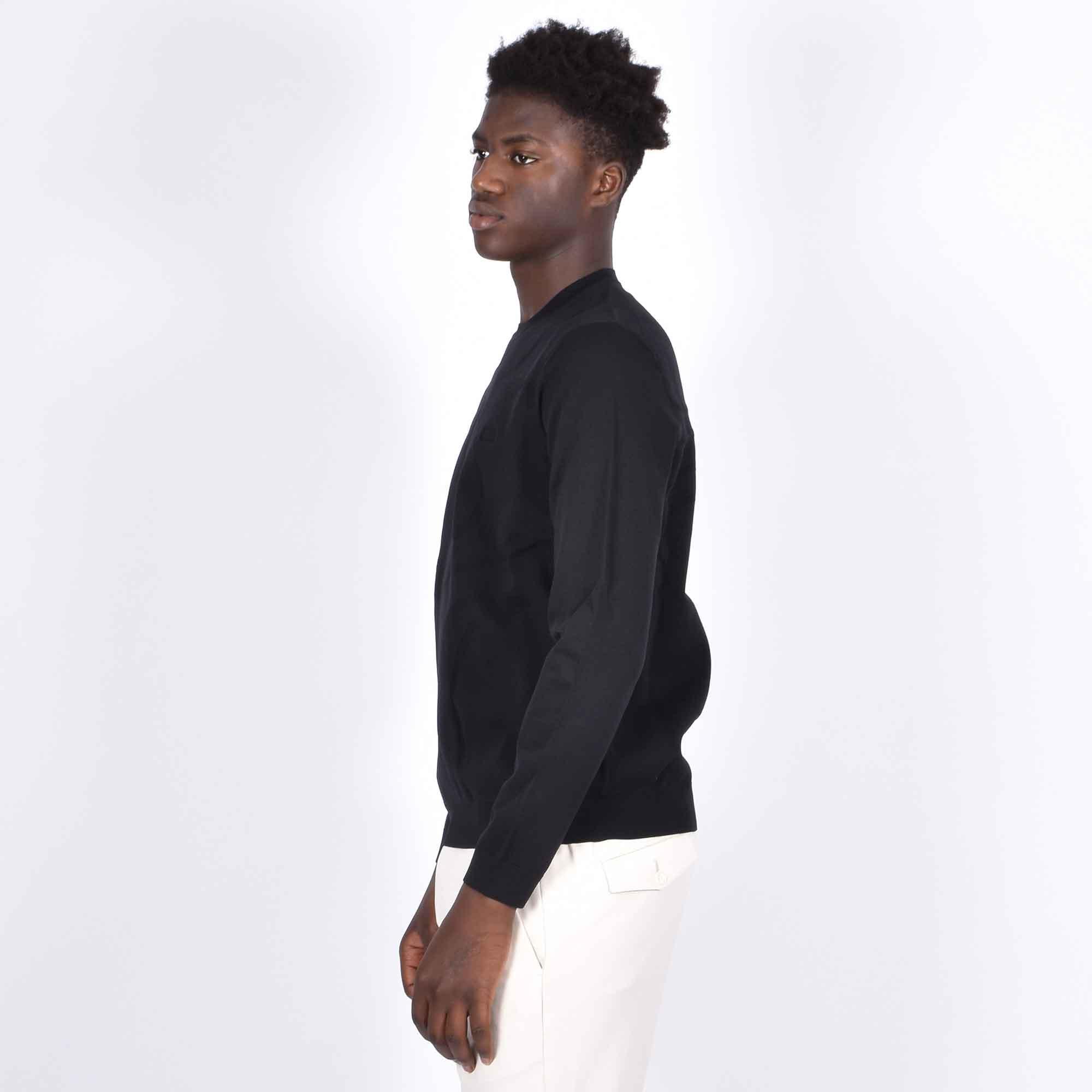 Felpa maglia logo posteriore - Nero