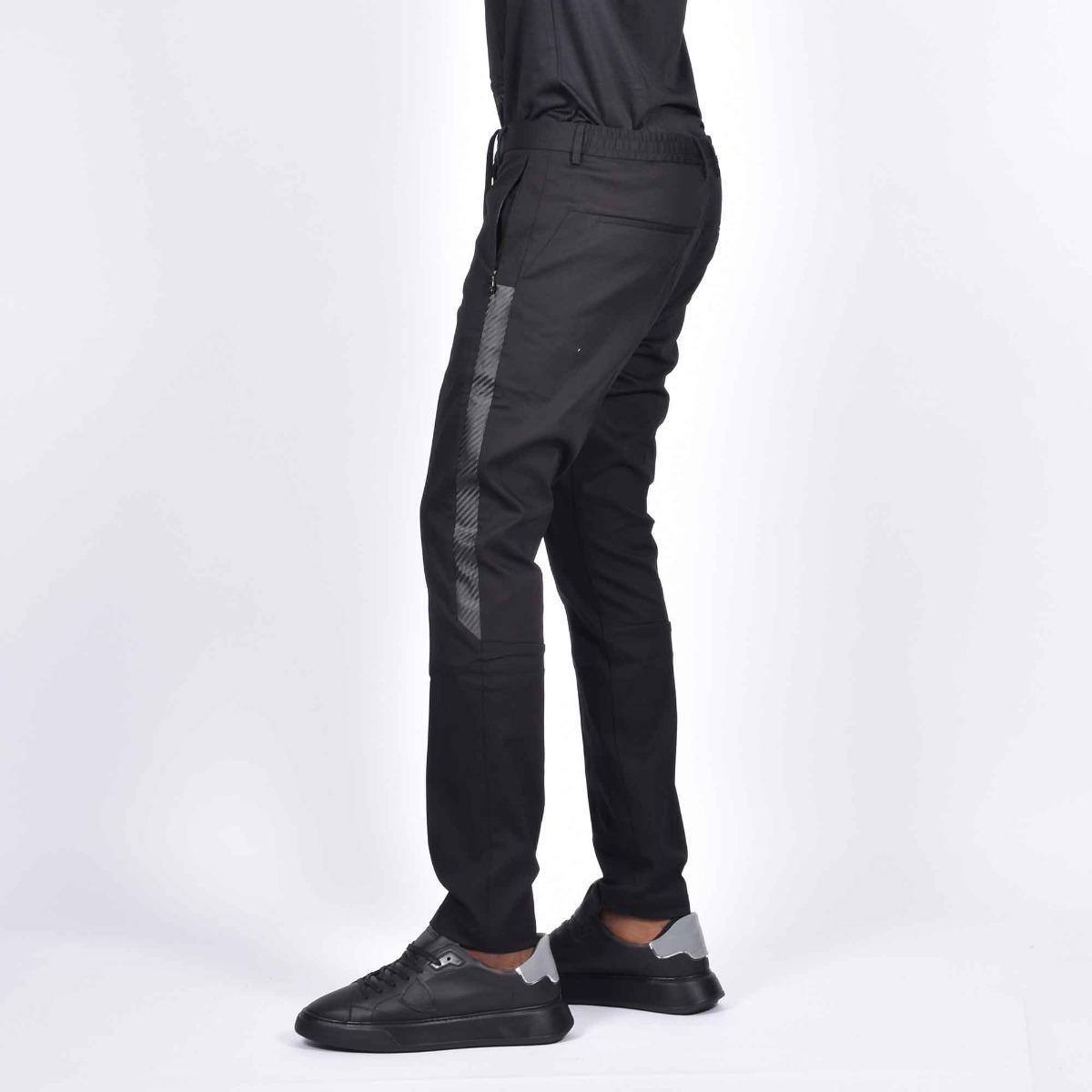 Pantalone inserto fibra carbonio - Nero