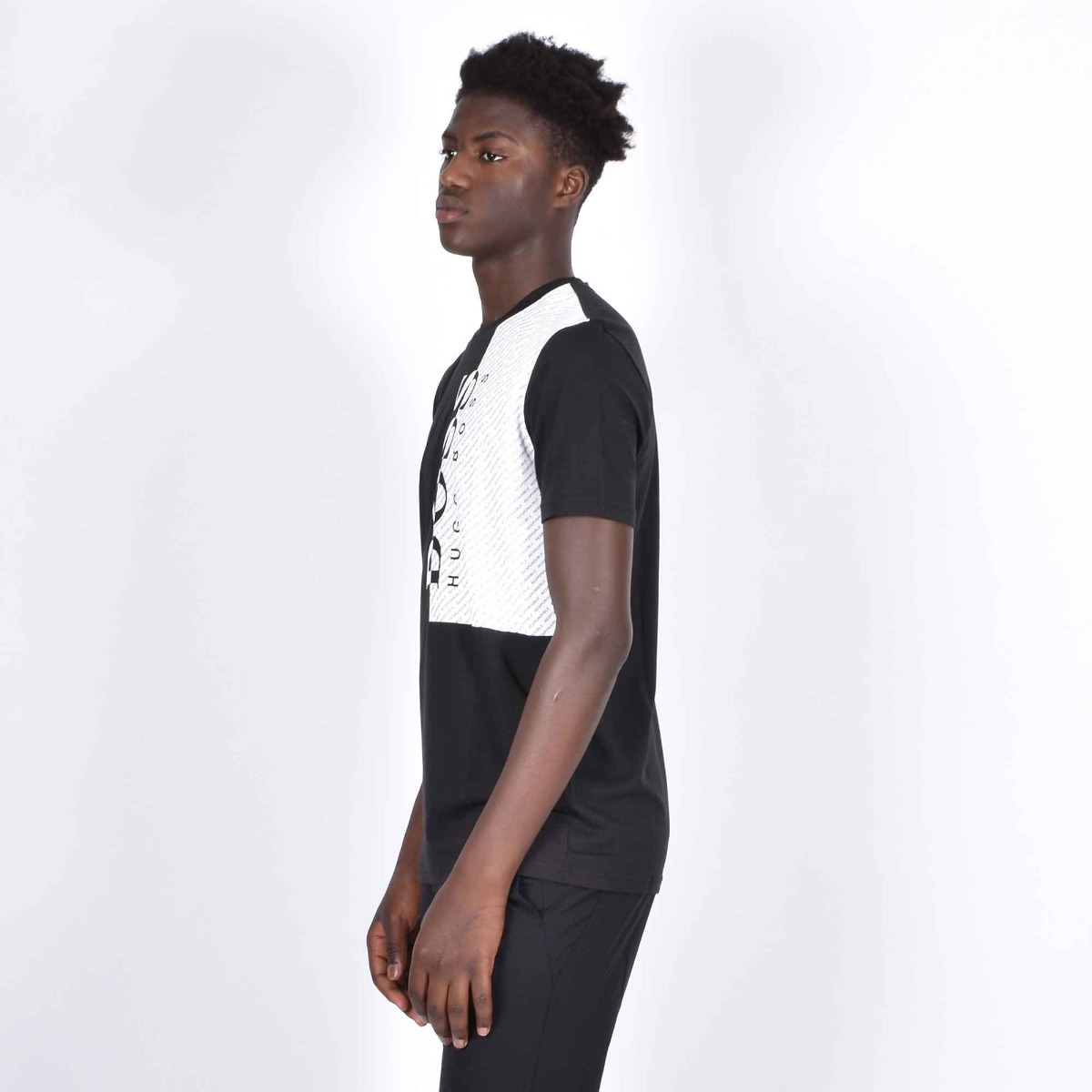 T-shirt mc bicolor - Nero