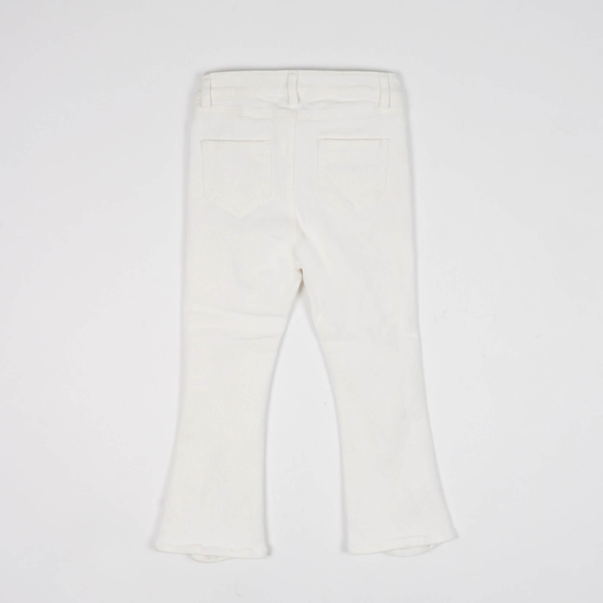 Jeans flare con rotture - Bianco