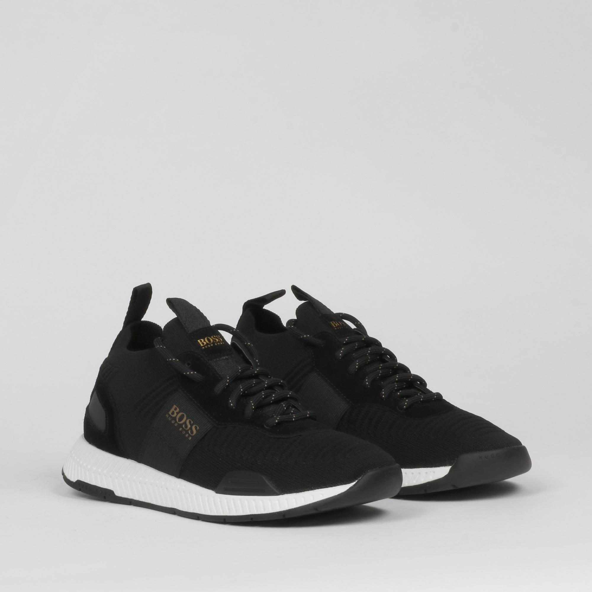 Sneakers titanium runn - Nero/oro