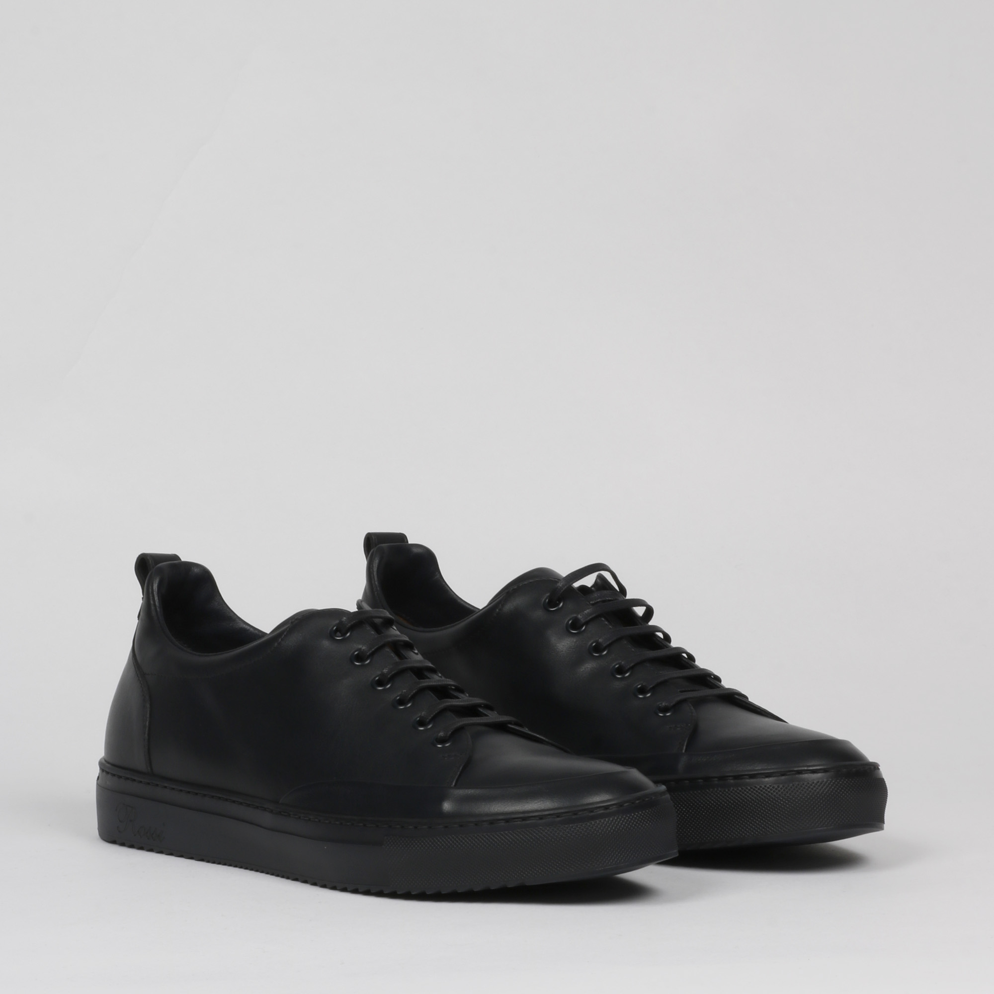 Sneakers logo rossi - Nero