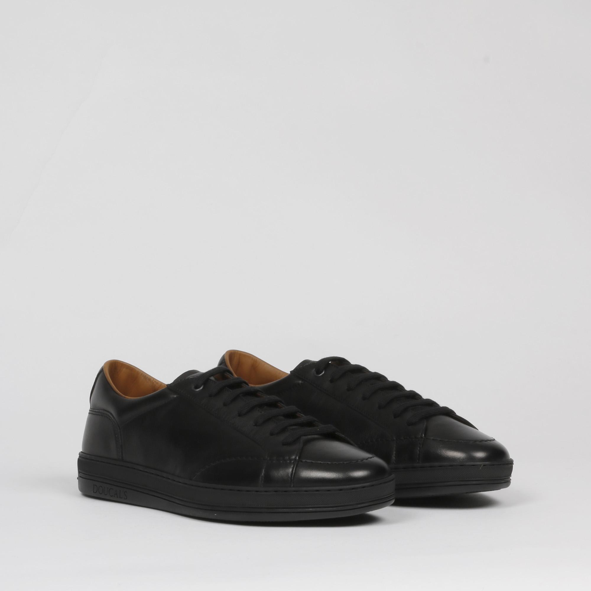 sneakers bassa pelle - Nero