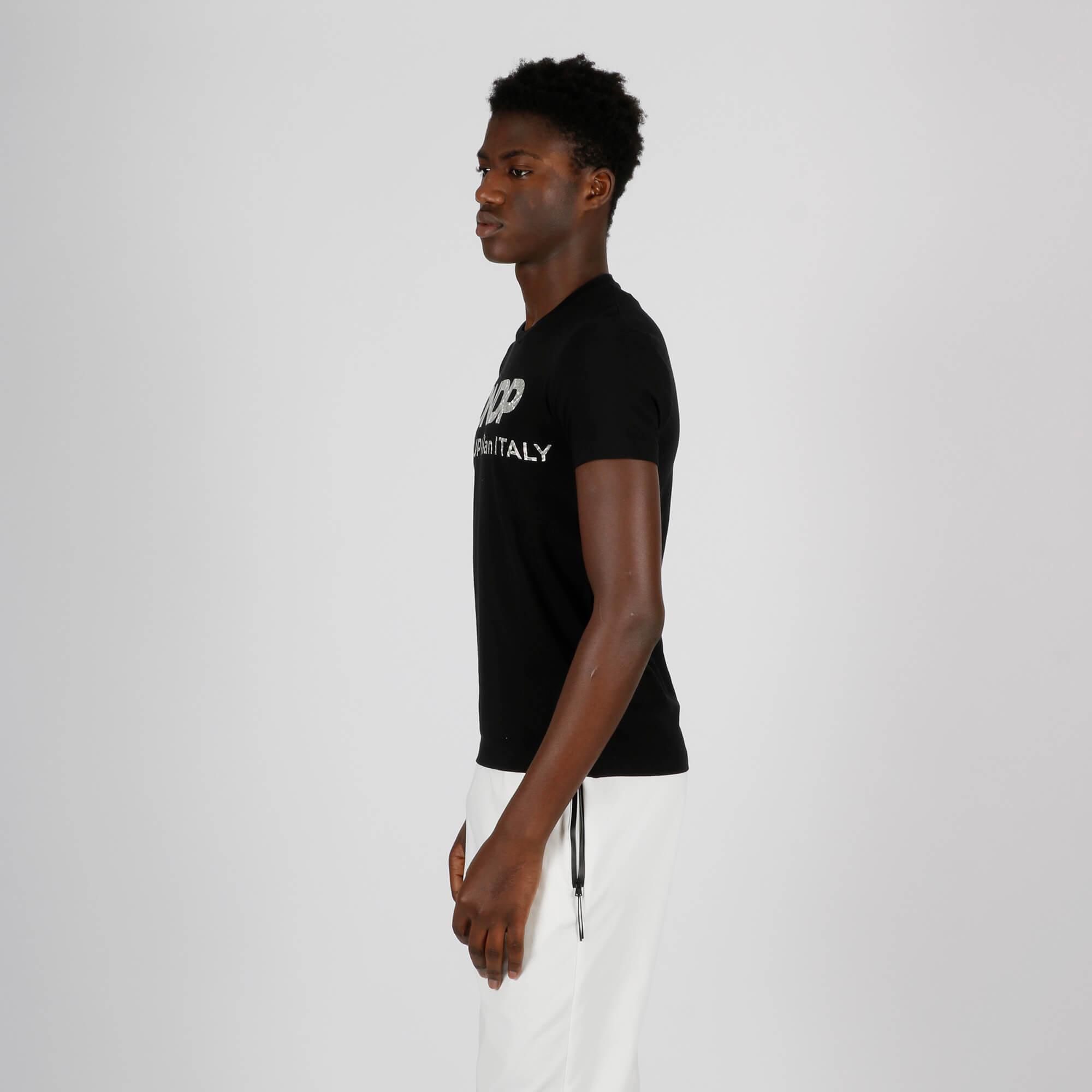 T-shirt logo evanescente - Nero