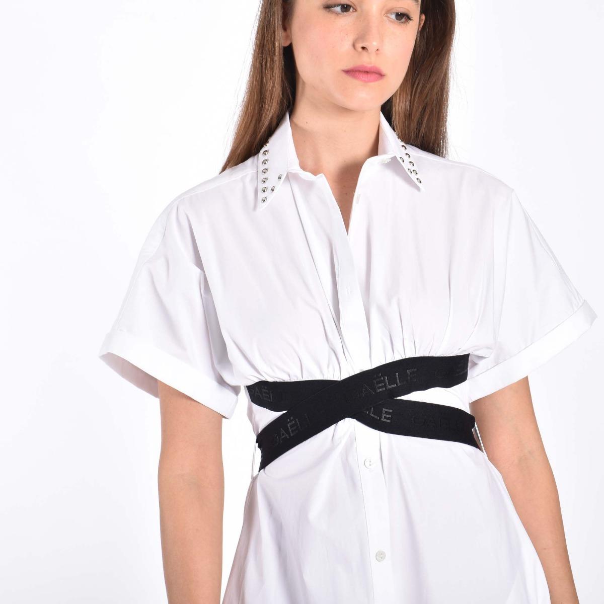 Abito camicia- Bianco