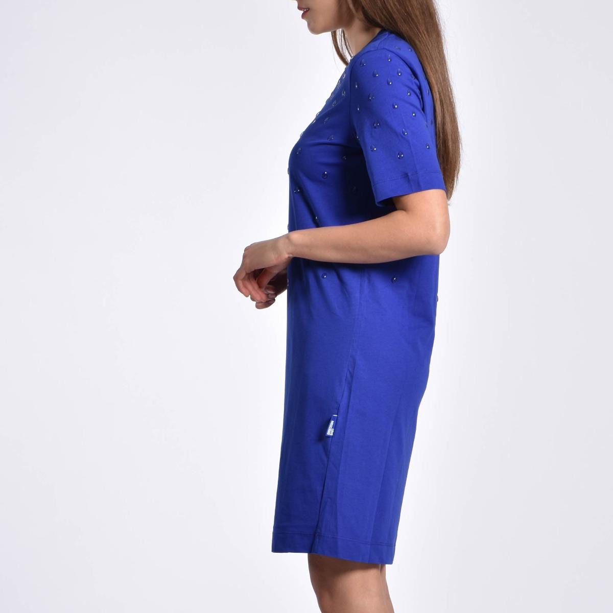 Vestito gocce 3d- Blu