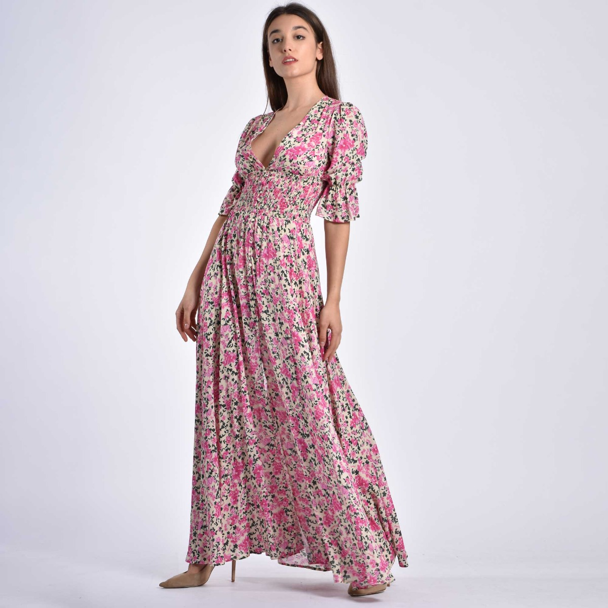 Long dress isabel- Panna