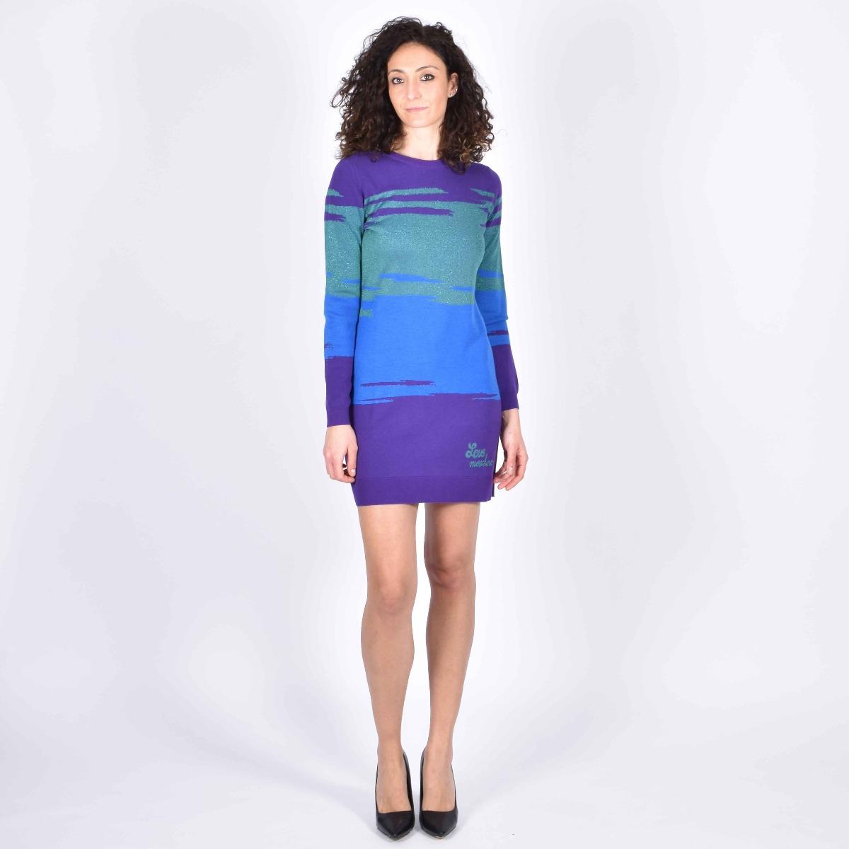 Abito in maglia lurex- Multicolor