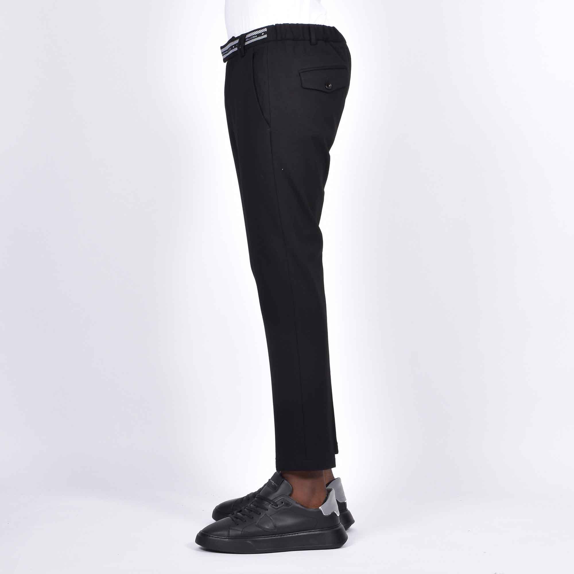 Pantalone in maglia logo vita - Nero
