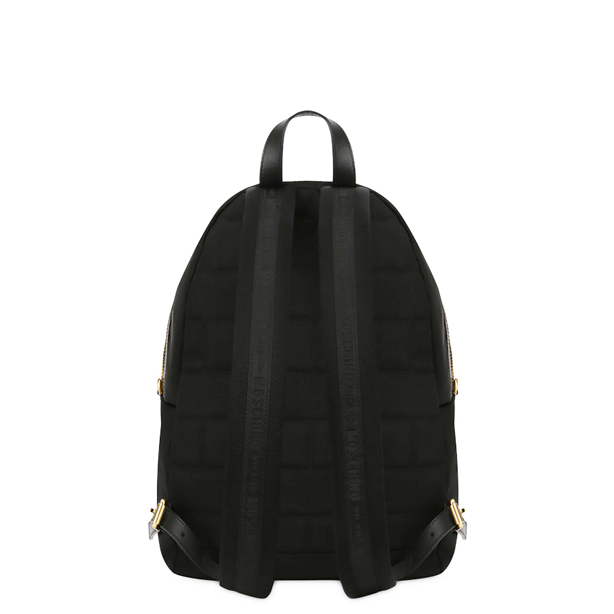 Zaino tasca logo Moschino Couture- Nero