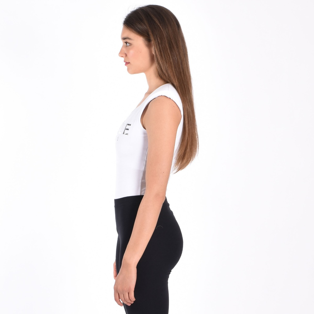 Body logo reflect- Bianco
