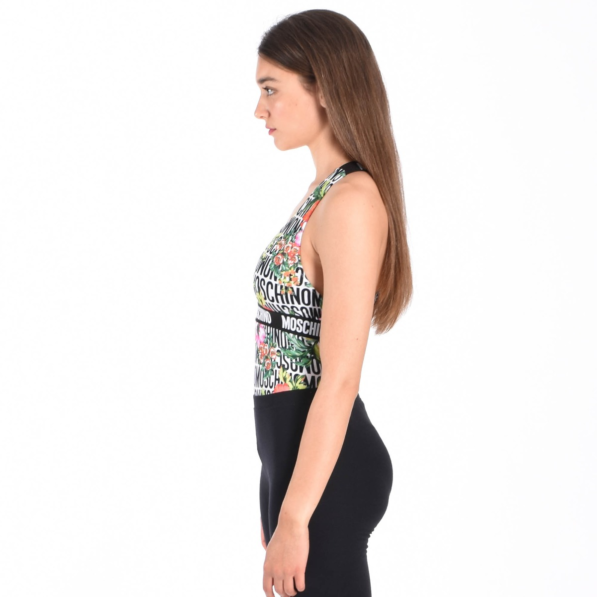 Body all over fiore e logo - Multicolore