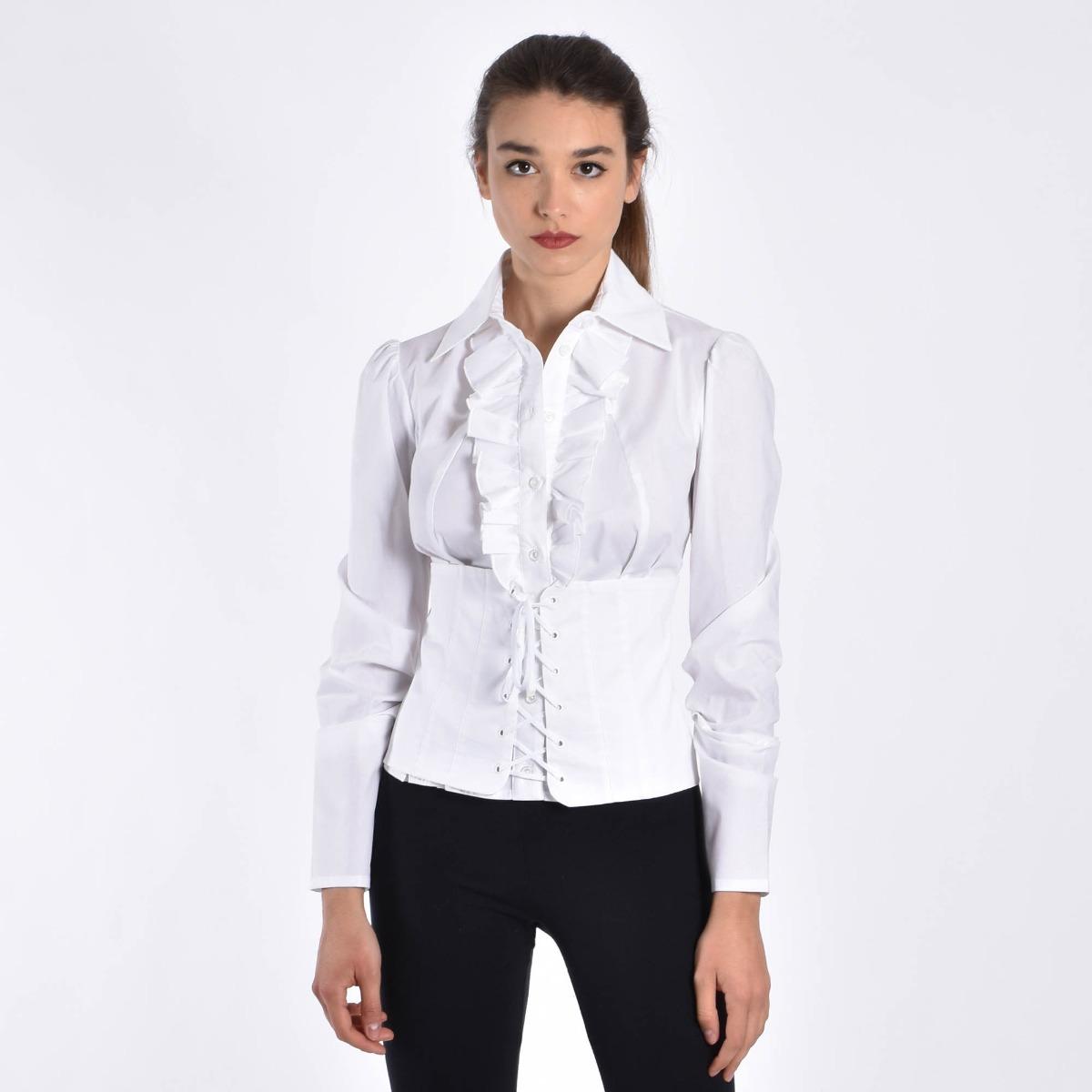 Camicia con stringhe- Bianco