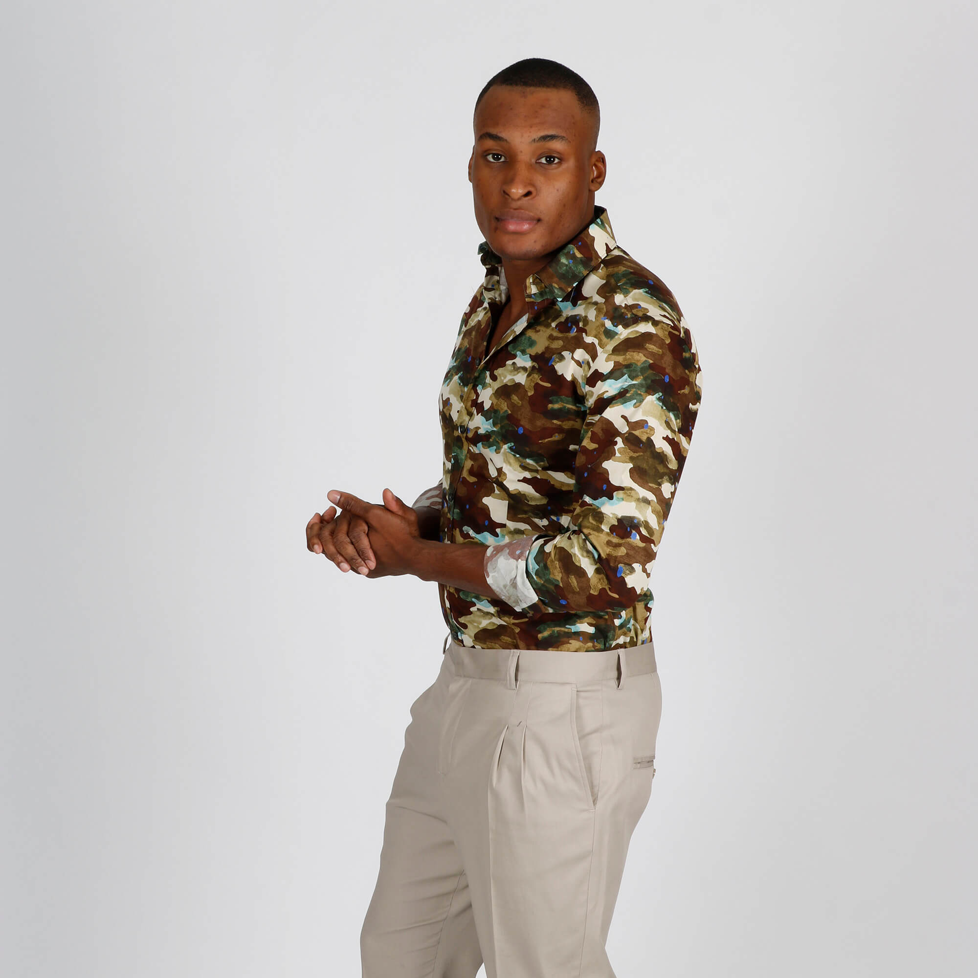 Camicia camouflage - Marrone