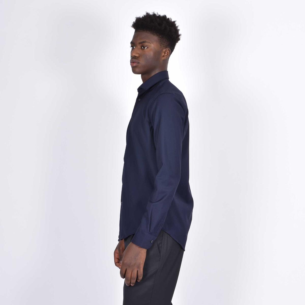 Camicia basica- Blu