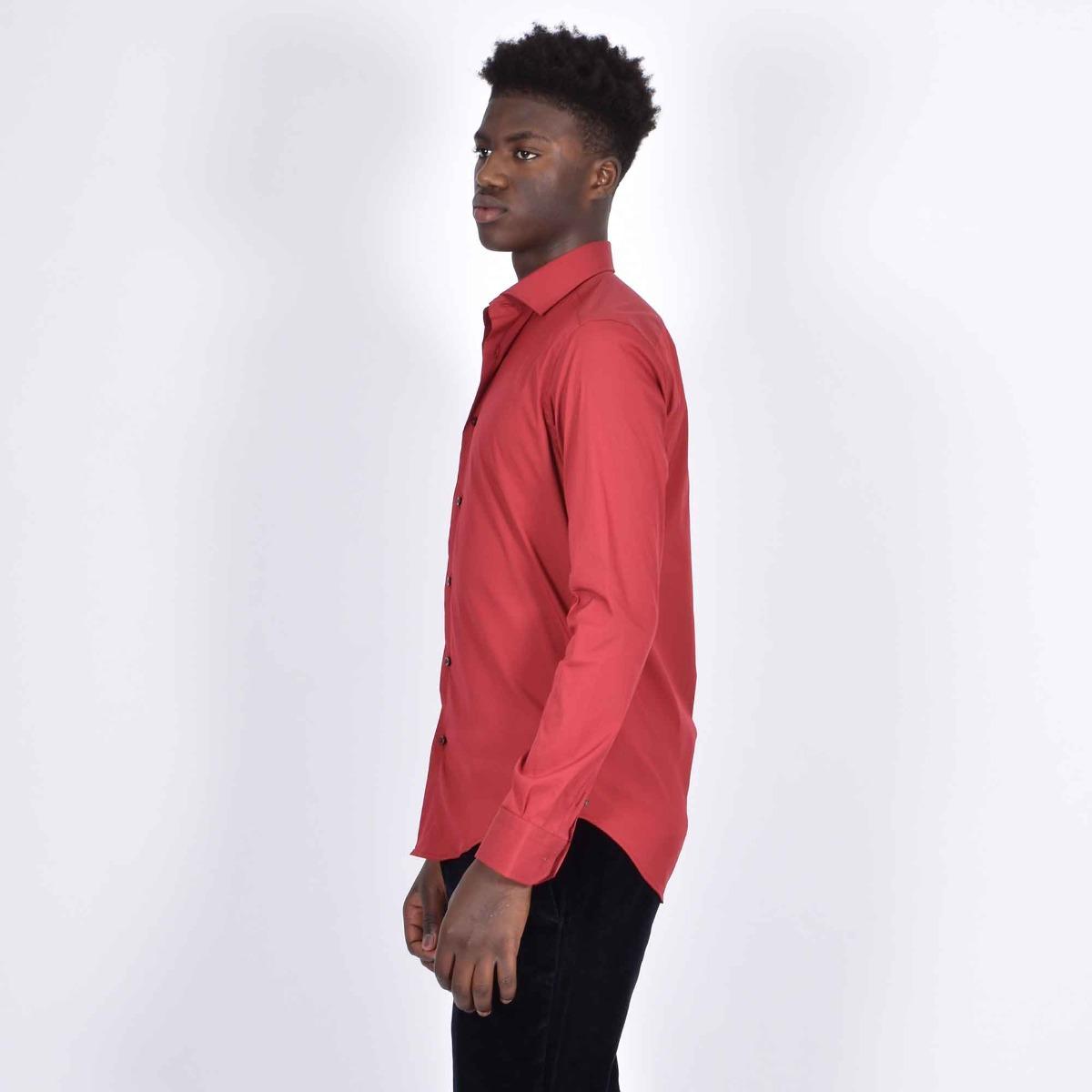 Camicia basica - Bordeaux