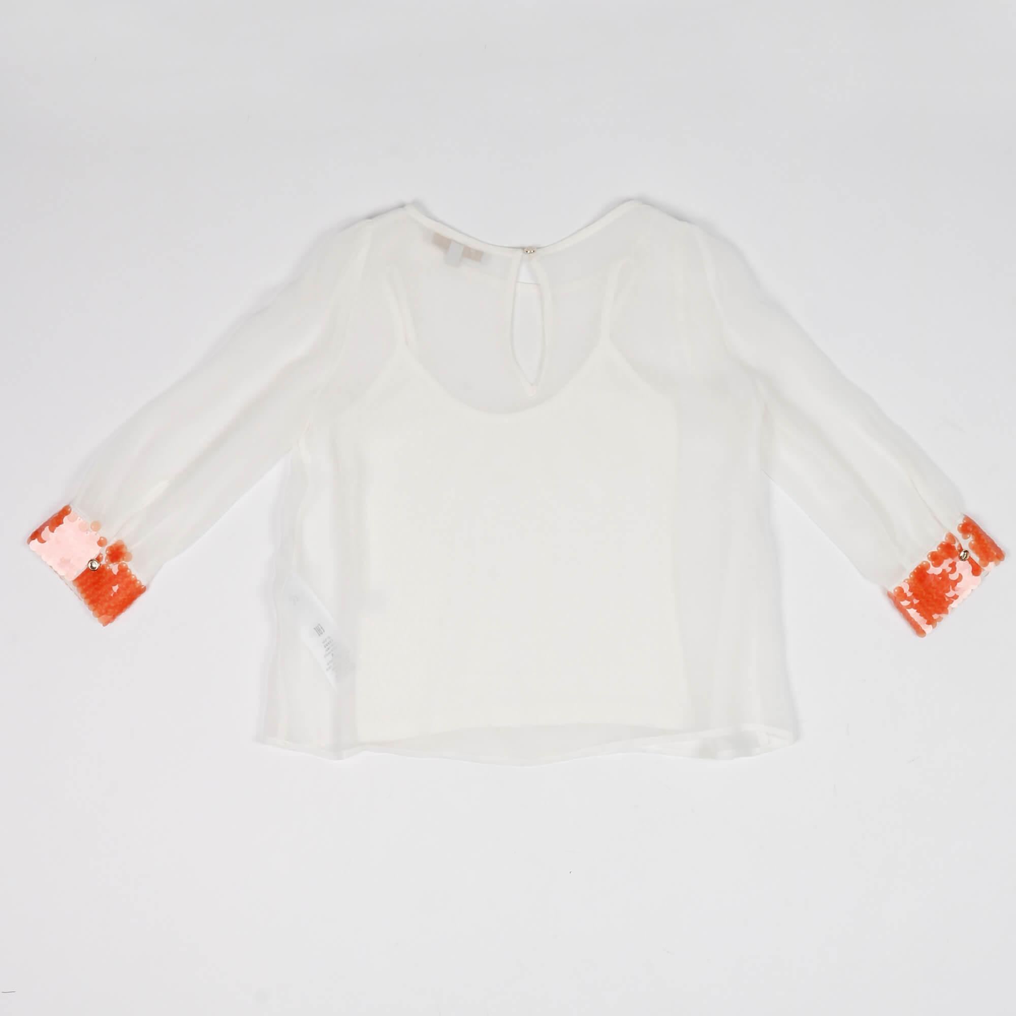 Camicia paillettes- Bianco