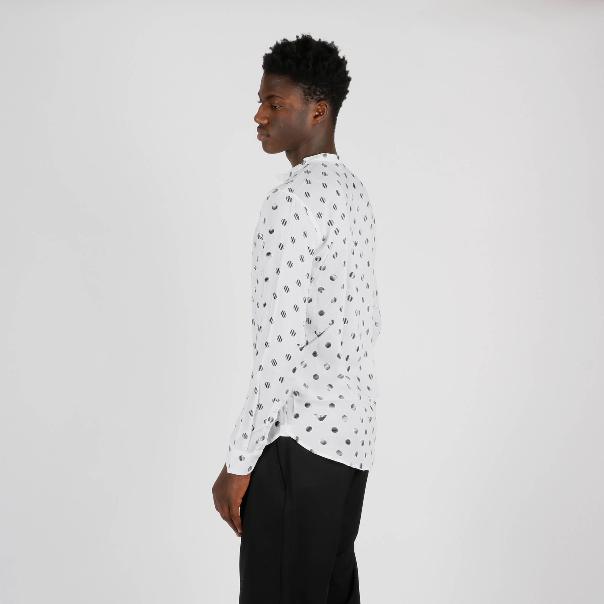 Camicia logo e pois - Bianco