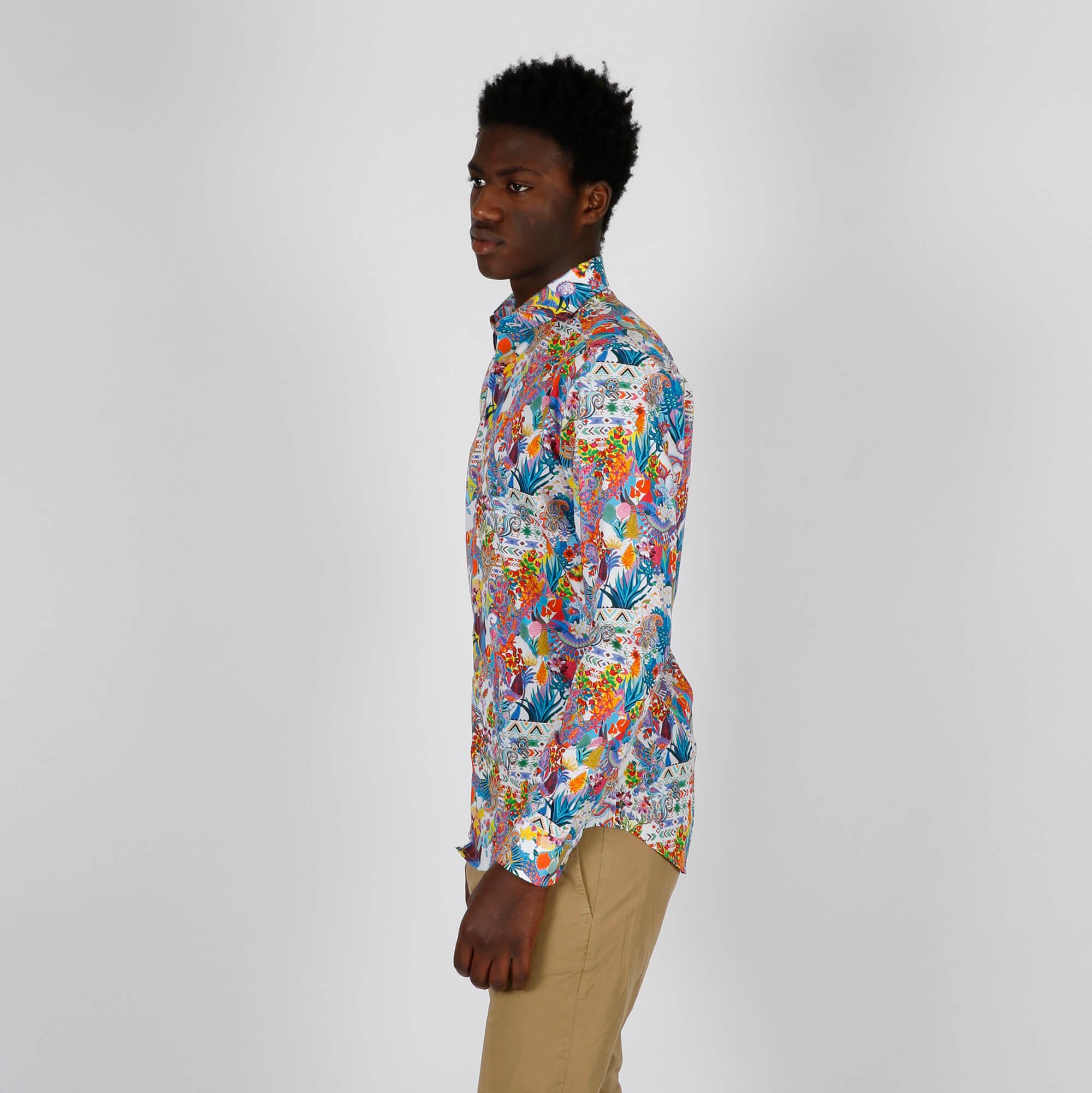 Camicia fantasia all over - Multicolor