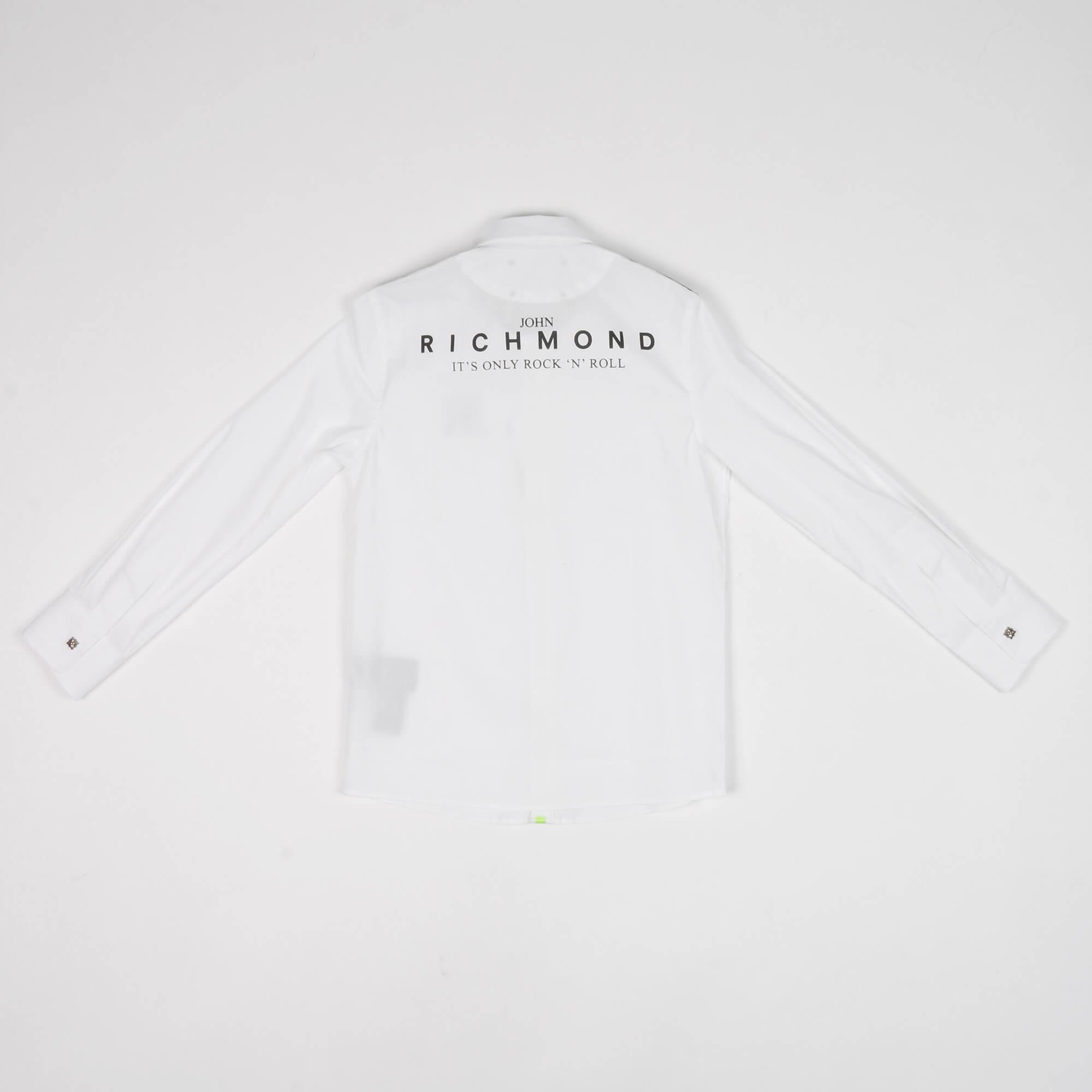 Camicia inserto spalle- Bianco