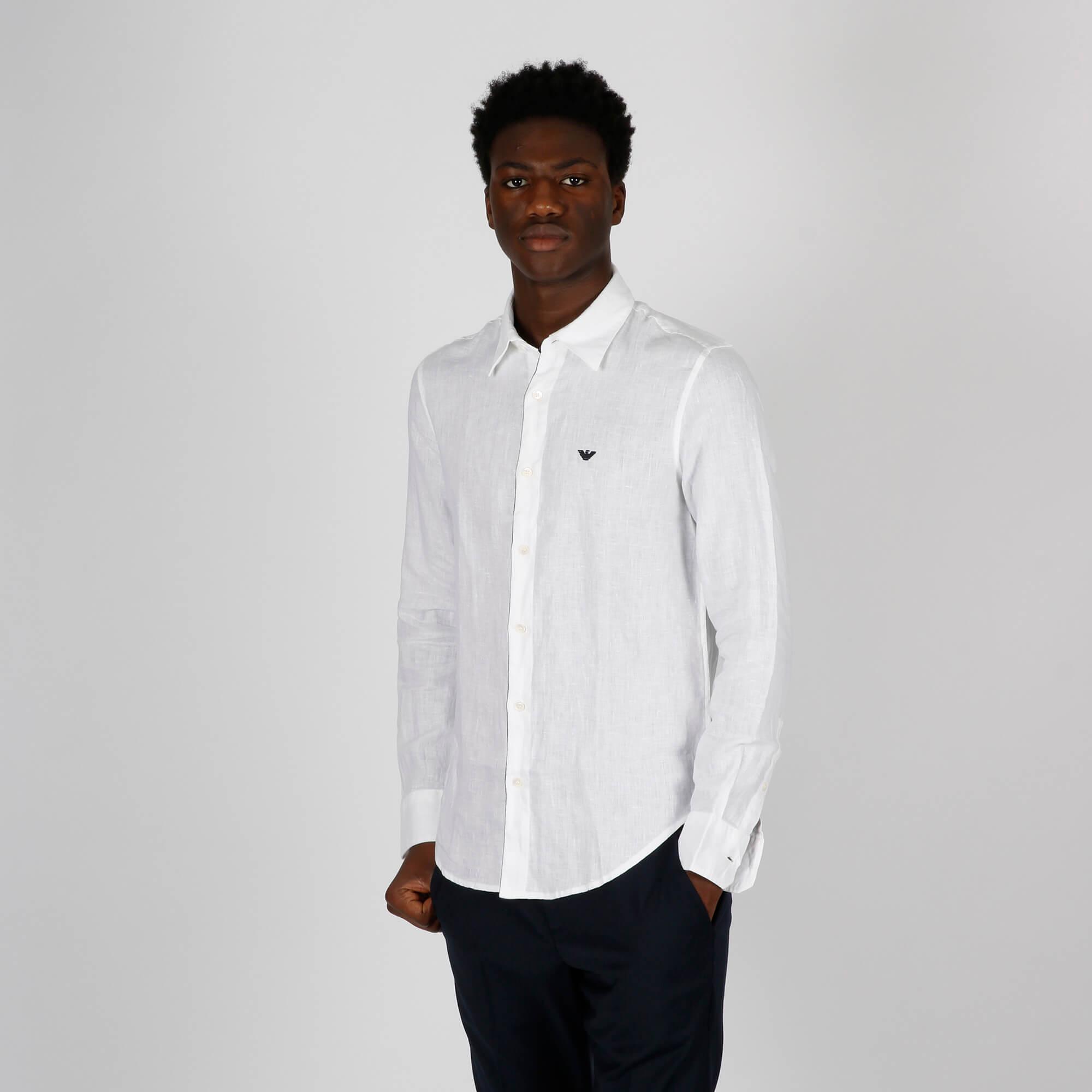 Camicia lino - Bianco