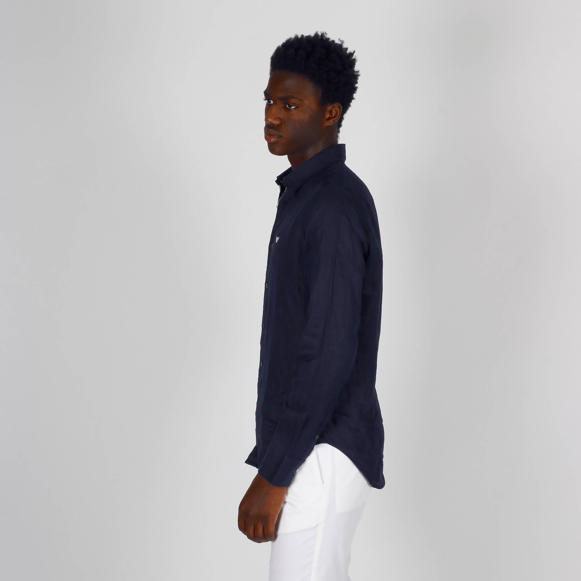 Camicia lino - Blu