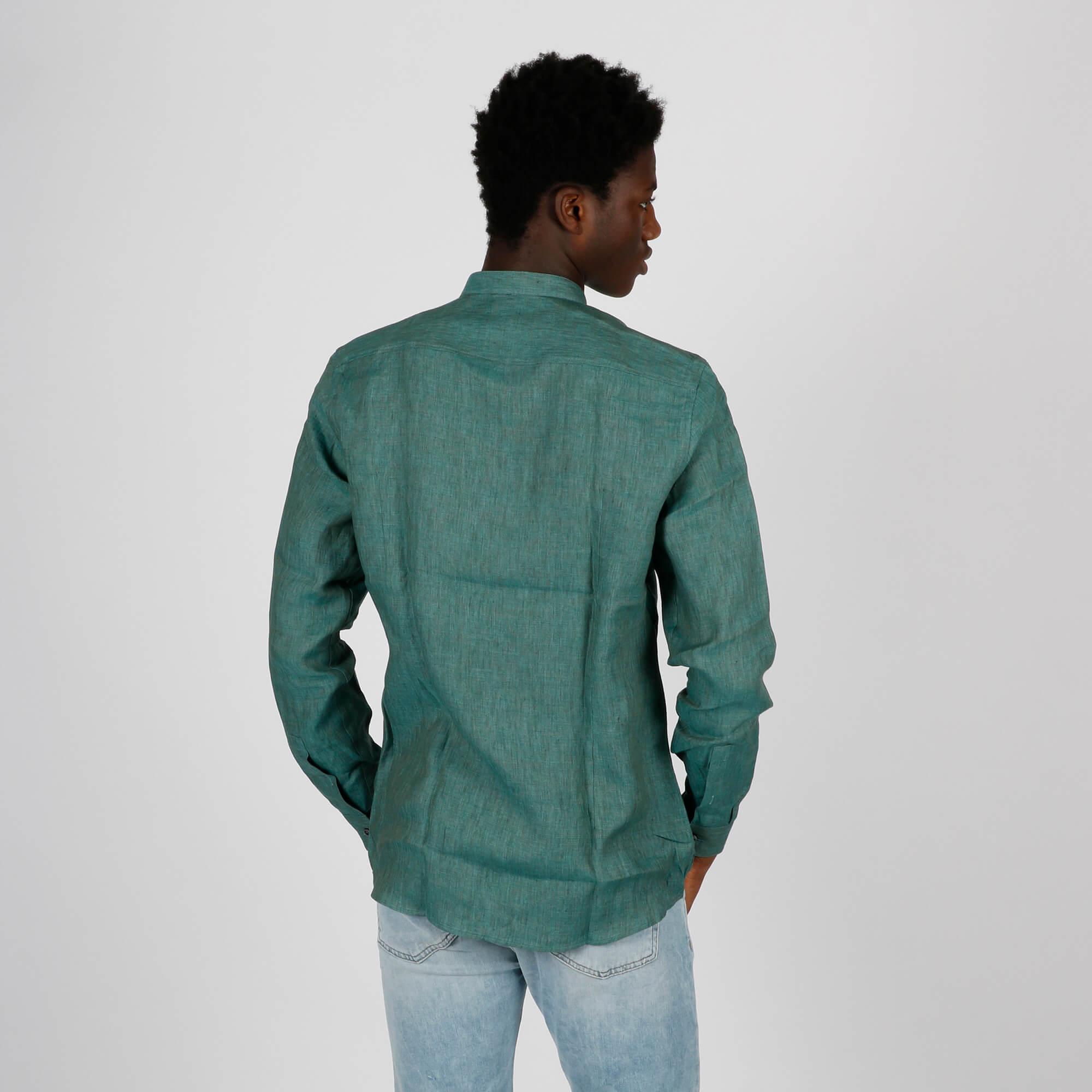 Camicia coreano lino - Verde
