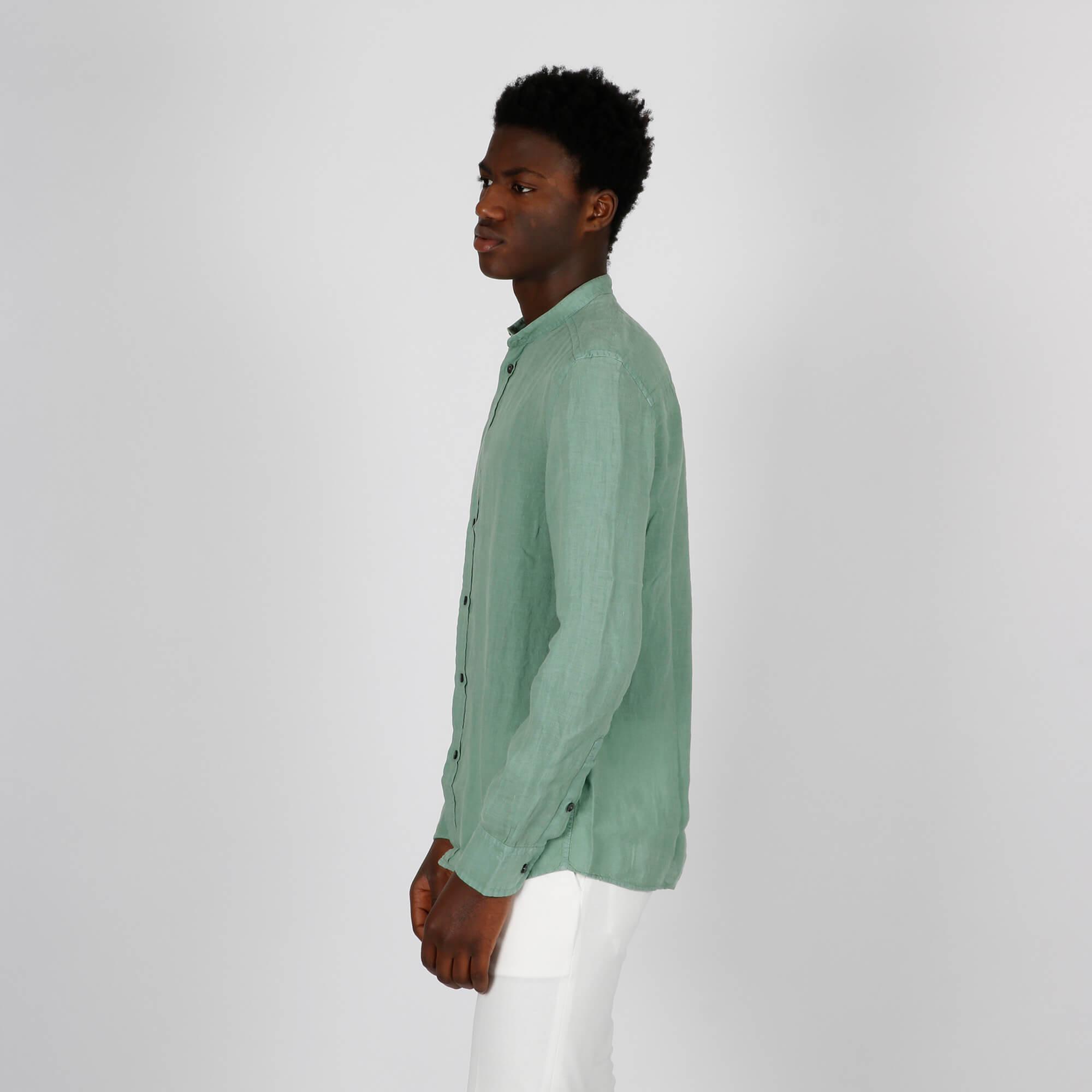 Camicia lino - Verde
