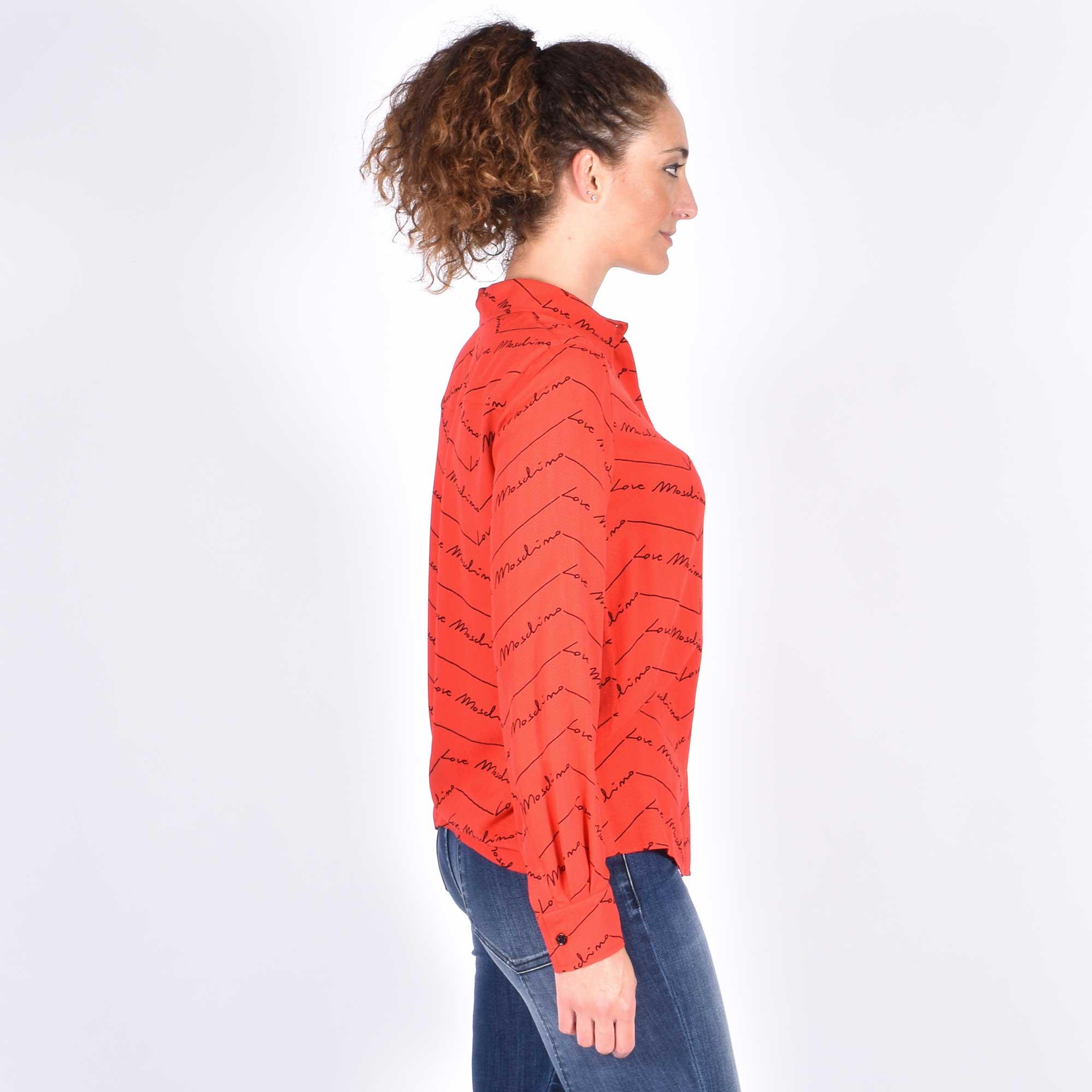 Camicia logo corsivo - Rosso