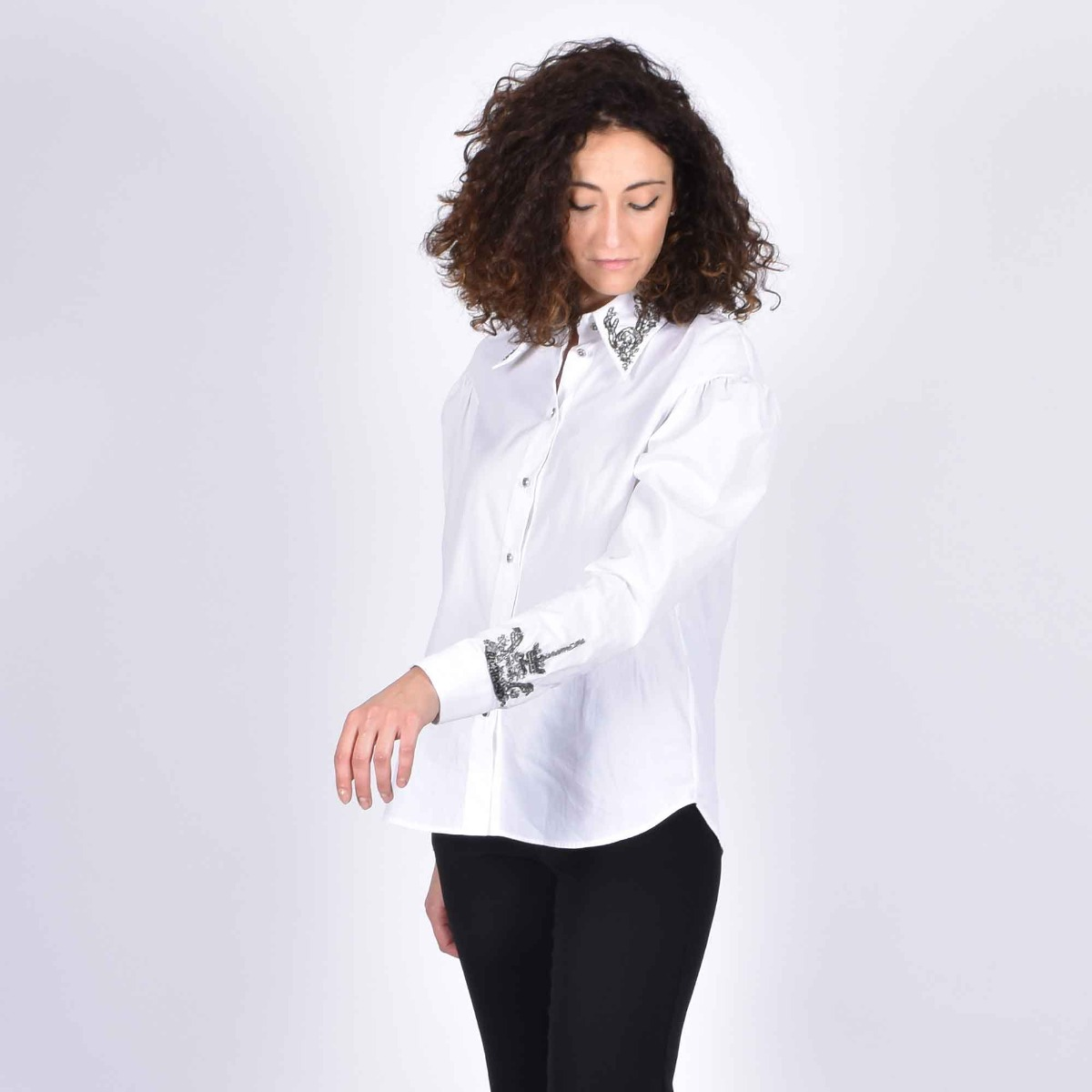 Camicia taranaki- Bianco
