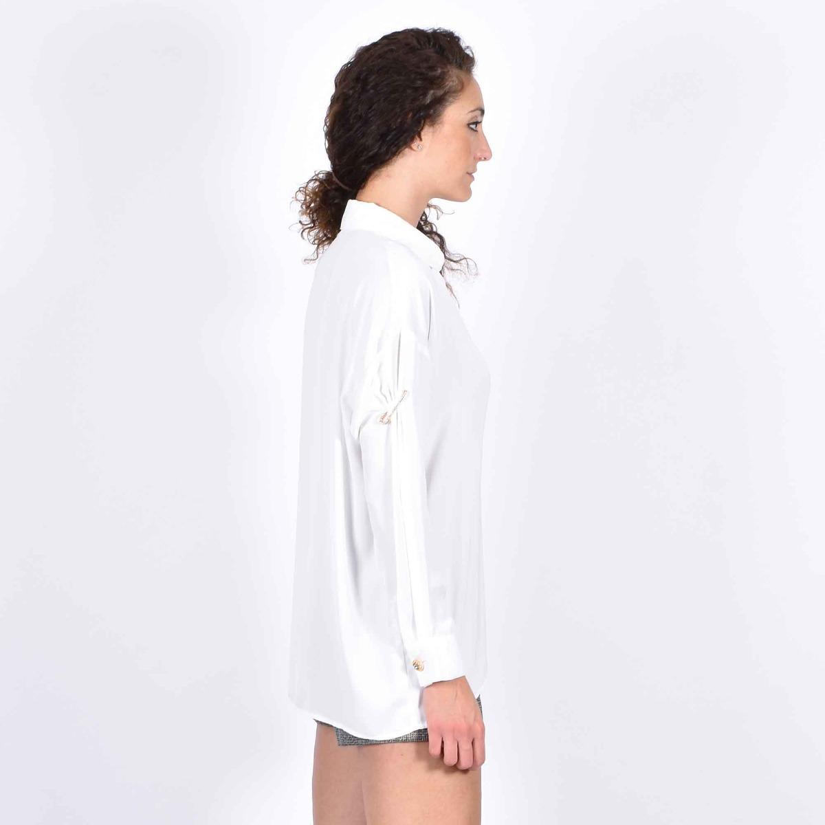 Camicia piercing manica - Bianco