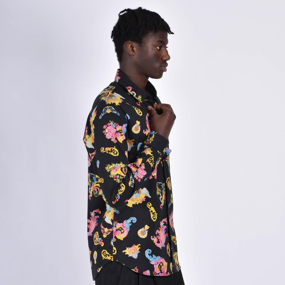 Camicia print cameo- Nero